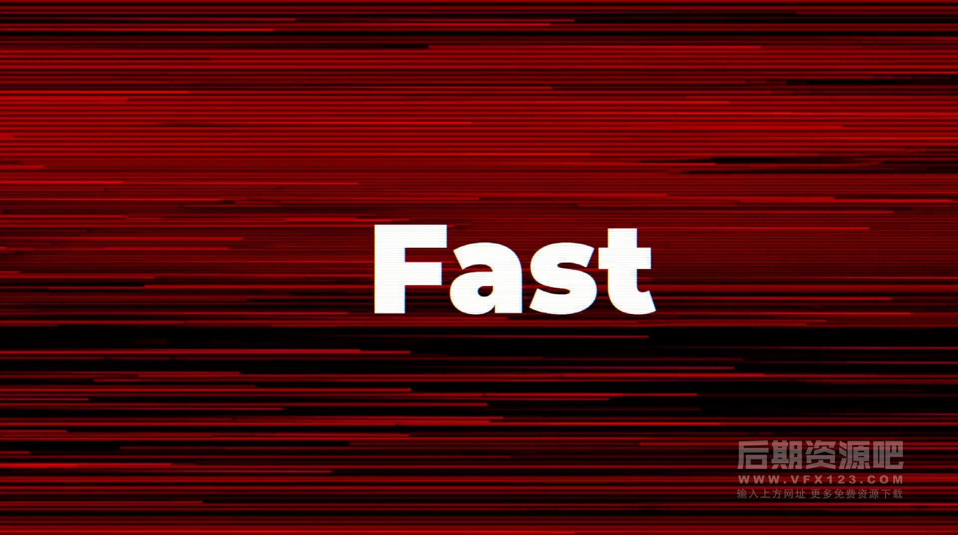 Fcpx主题插件 4K快闪抖音风格Vlog片头模板 Fast Opener