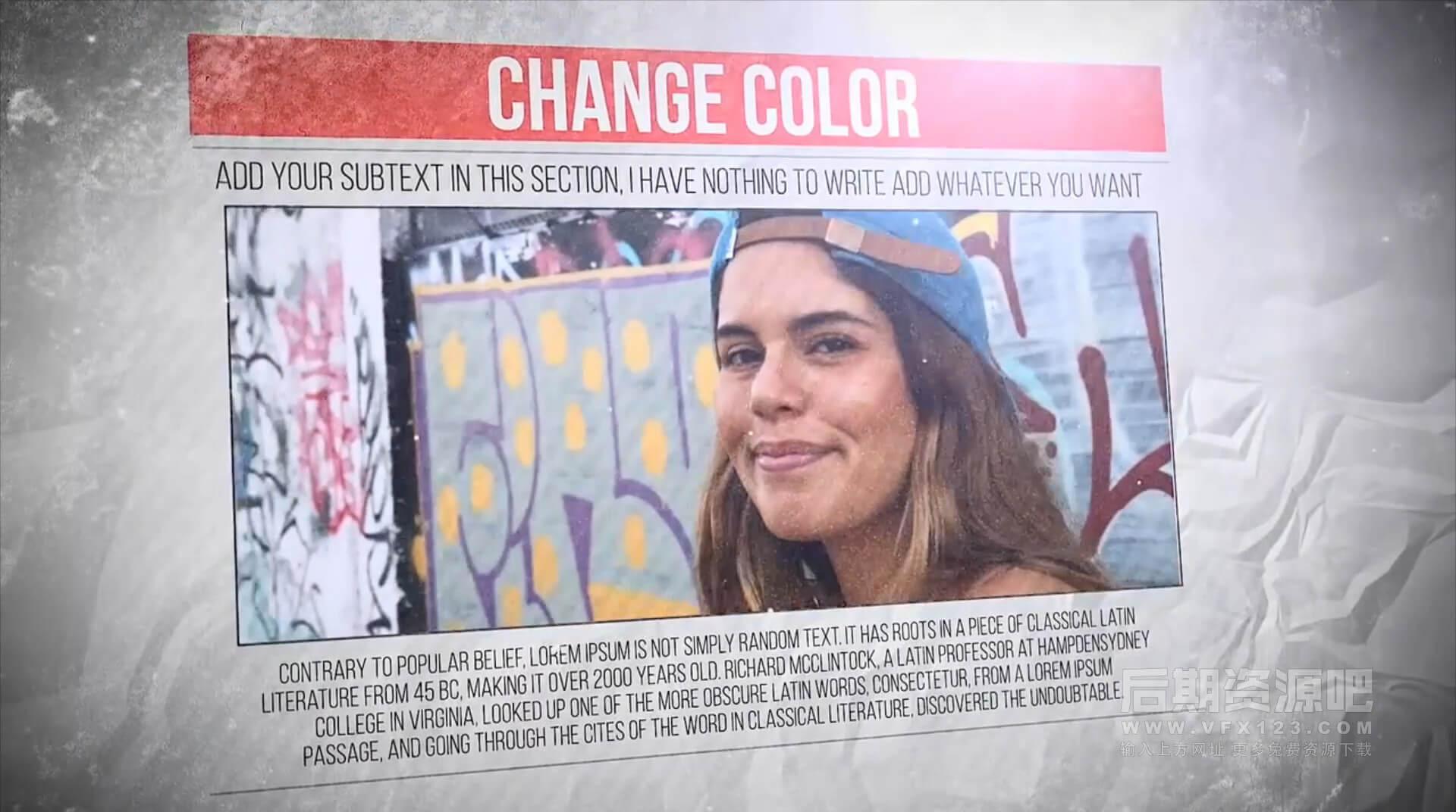 fcpx主题模板 报纸页面背景风格图片视频展示插件 Newspaper Freeze Promo