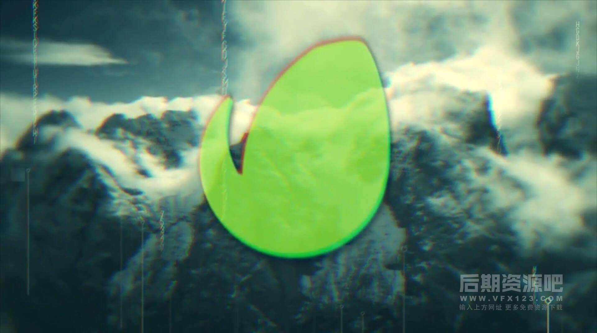 fcpx片头模板 干扰毛刺效果复古快闪风格预告片主题插件 Glitch Opener