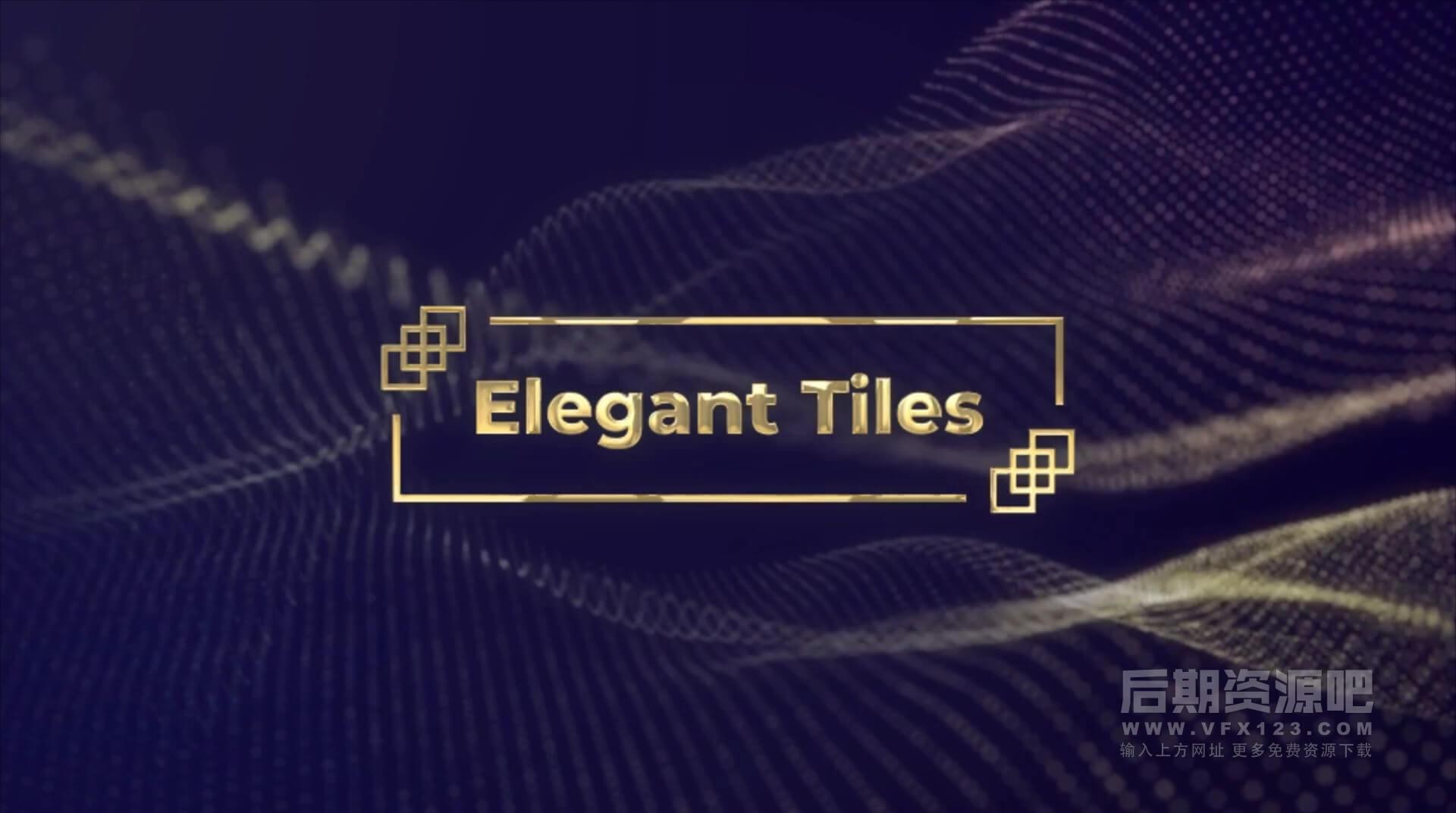 Ae模板 4K20组金色动态标题字幕条预设 Golden Titles
