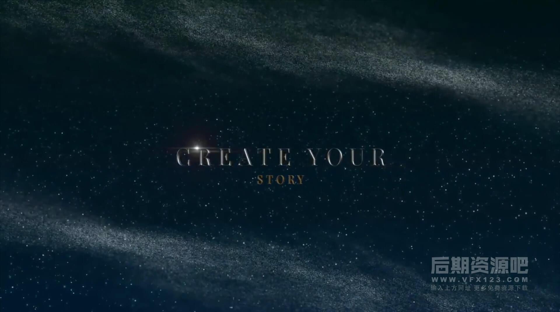 fcpx主题模板 3D立体文字标题深邃星空背景电影预告片头 Luxury Titles