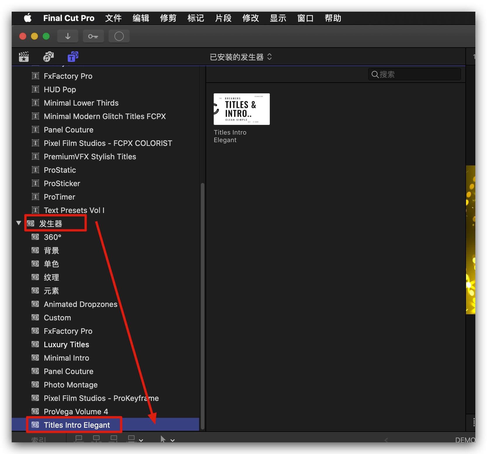 fcpx主题模板 黑白风格图片视频标题展示模板 Intro Titles Clean