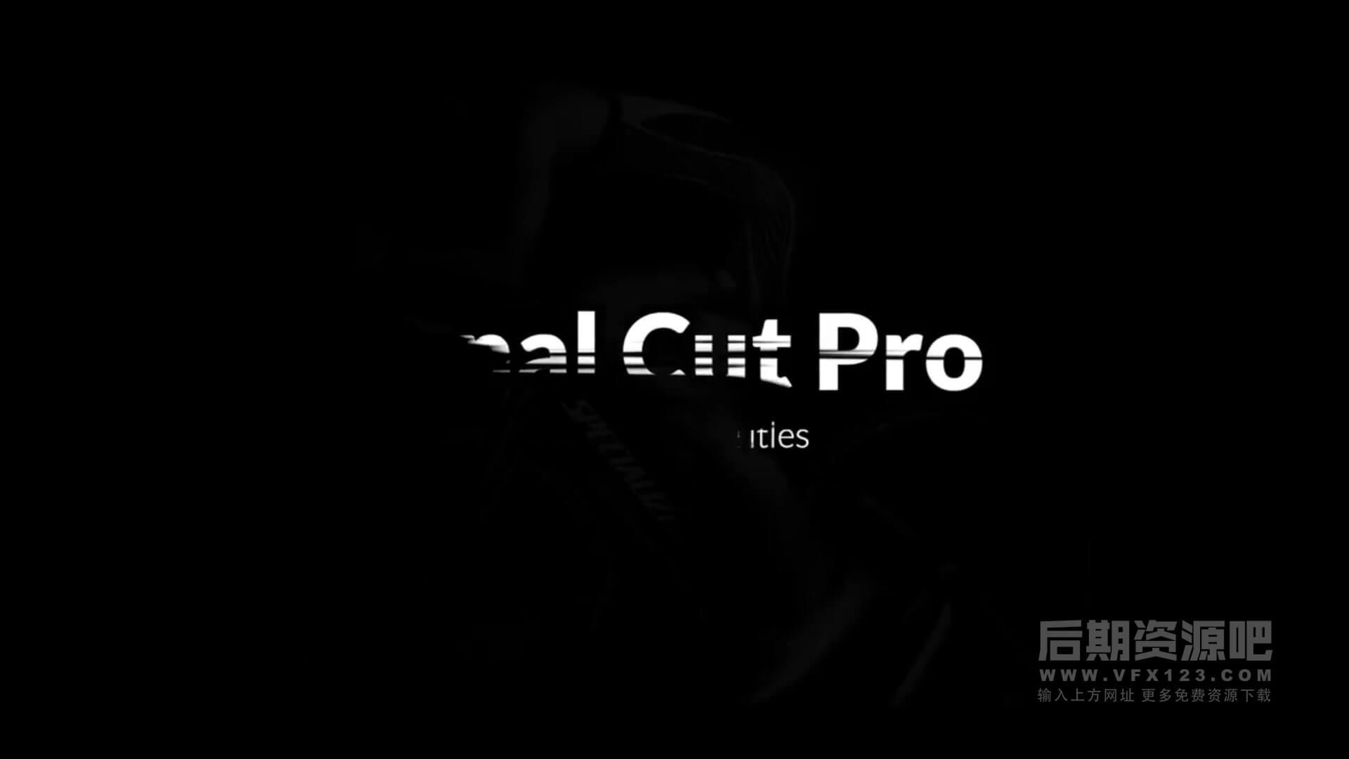 fcpx标题插件 笔刷遮罩文字擦除效果动画模板 Titles Animator Grunge Brush