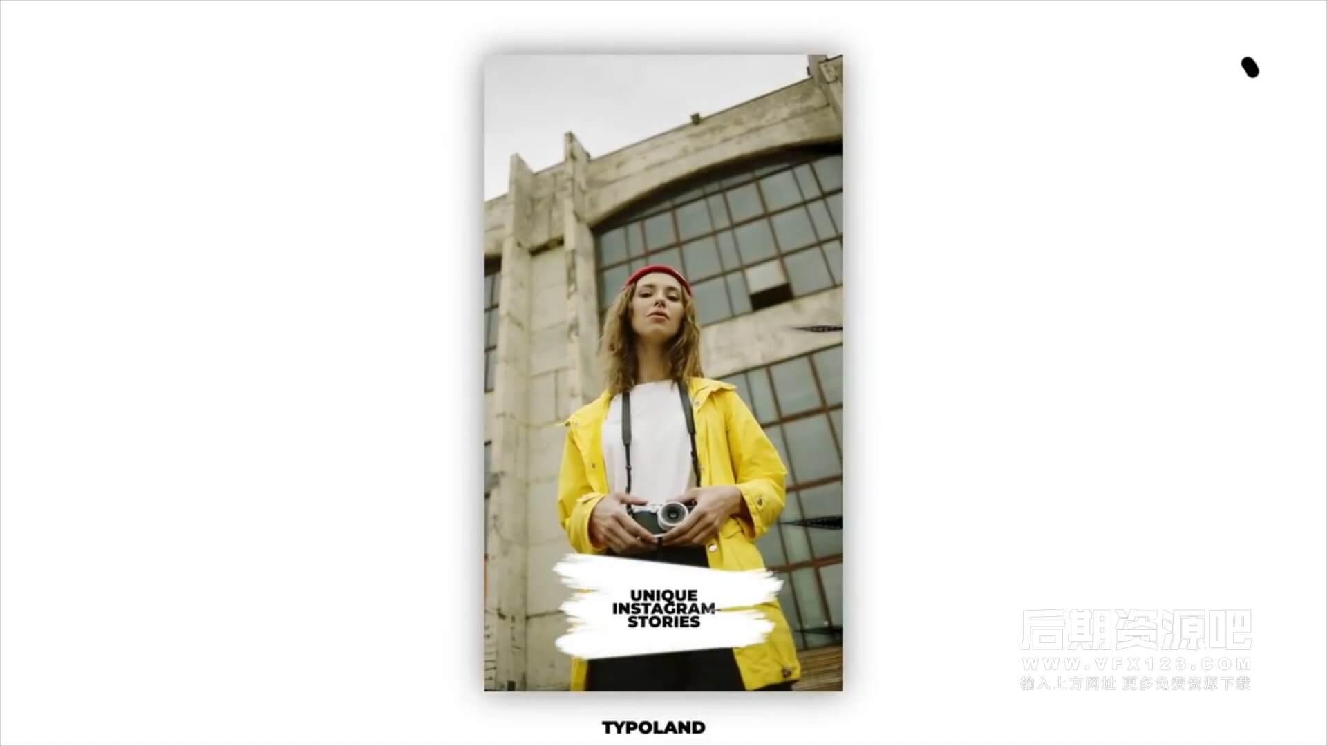fcpx竖屏模板 6组时尚现代手机短视频片头模板 Instagram Stories