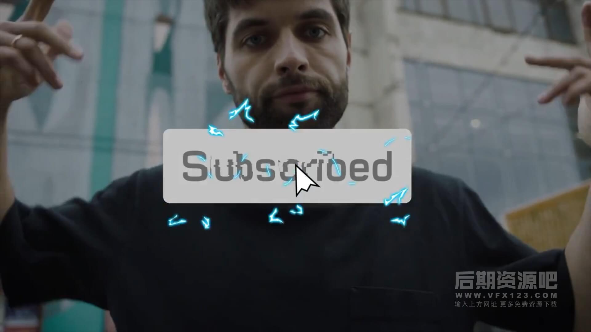 Fcpx插件 博主UP主卡通订阅按钮动画模板 第一季 Subscribe Buttons