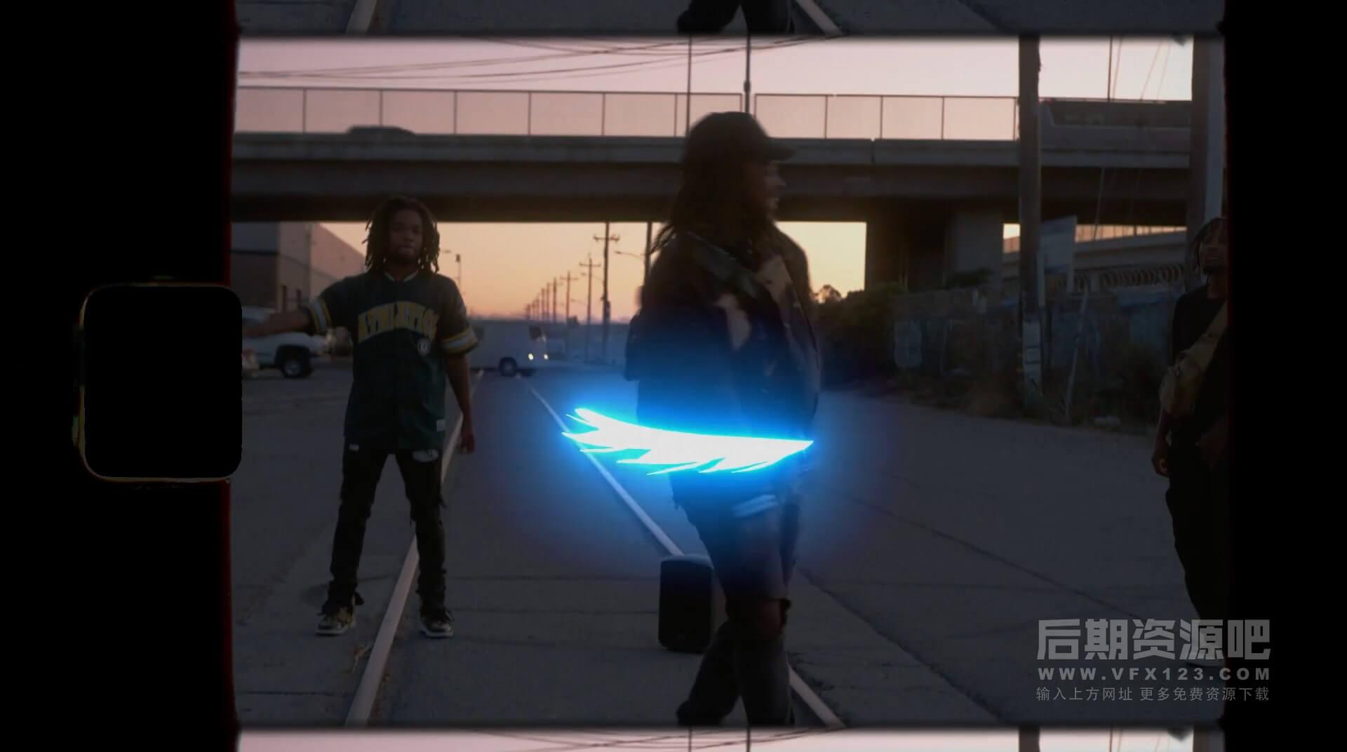 视频素材 卡通手绘辉光闪烁霓虹效果动画 综艺搞笑节目动画素材 Glow FX 2.1