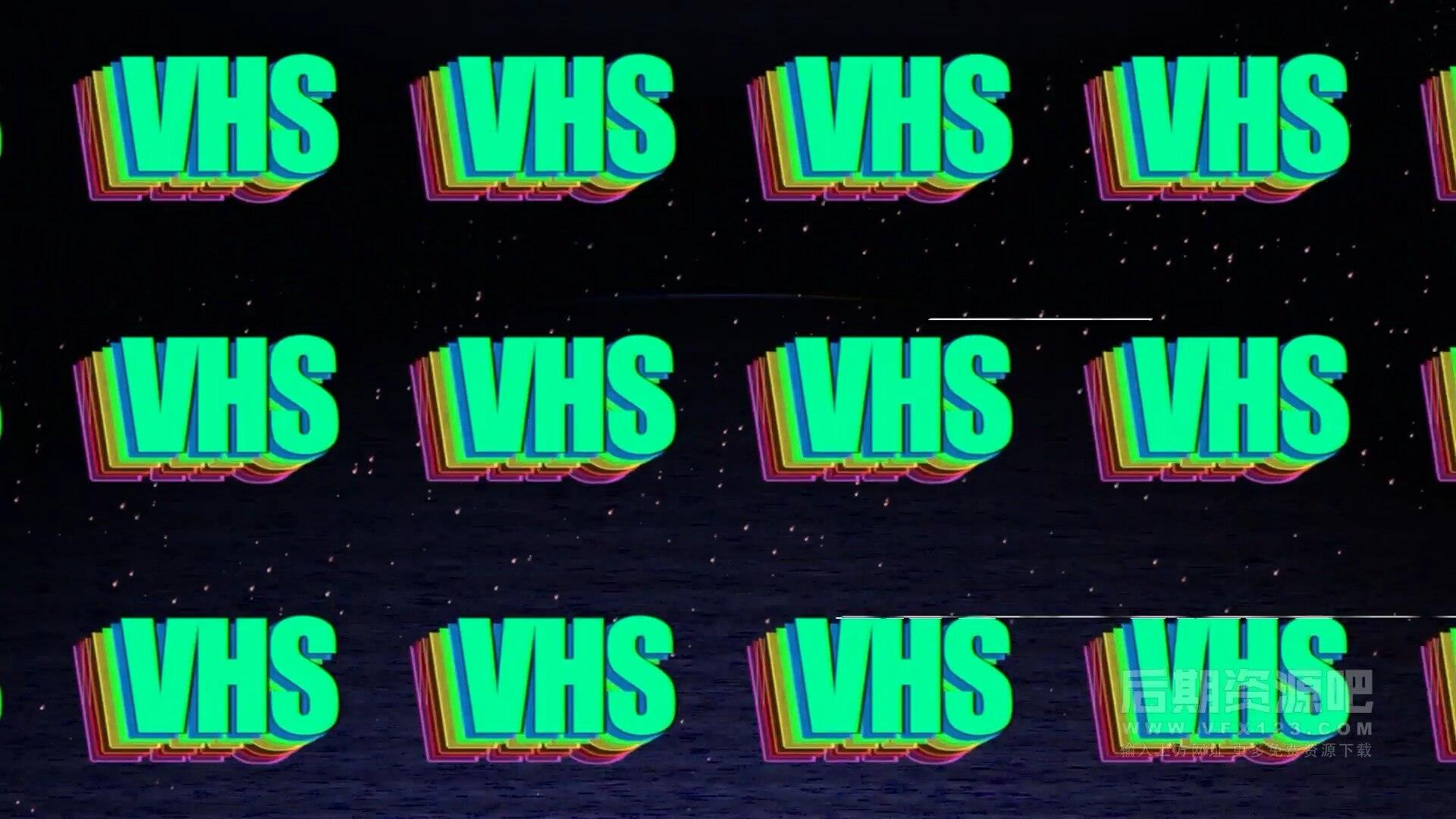 Fcpx插件 复古风格旧电影色彩分离特效+转场+标题+片头模板 VHS Pack 2.0
