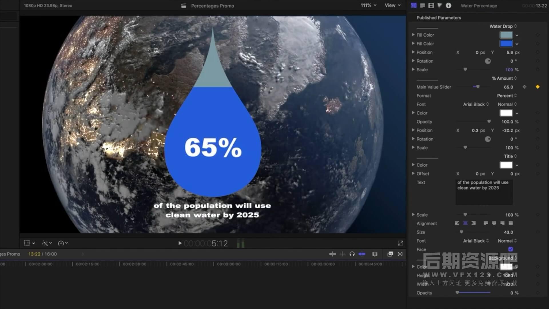 Fcpx插件 6款卡通交互式可自定义百分比滑块动画预设 V1 Percentage Sliders