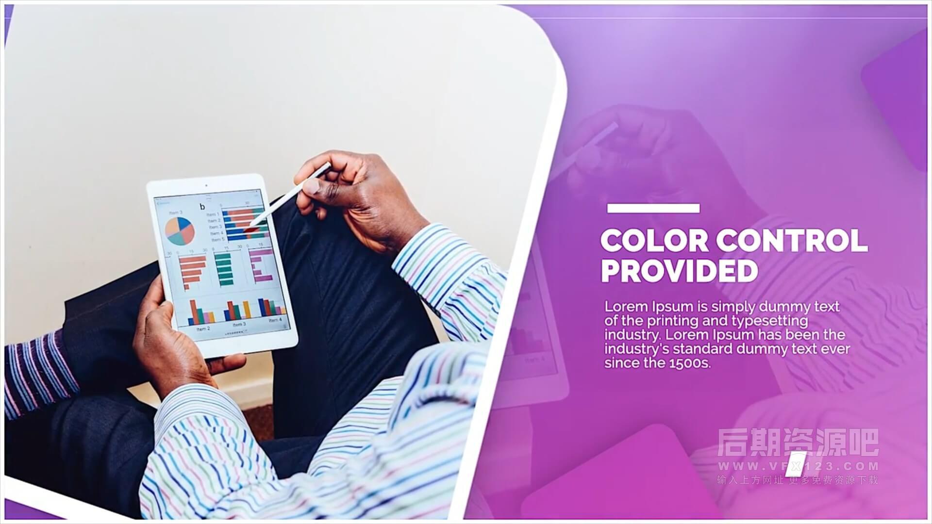 Fcpx主题模板 优雅流行商务公司展示宣传片模板 Corporate Trend