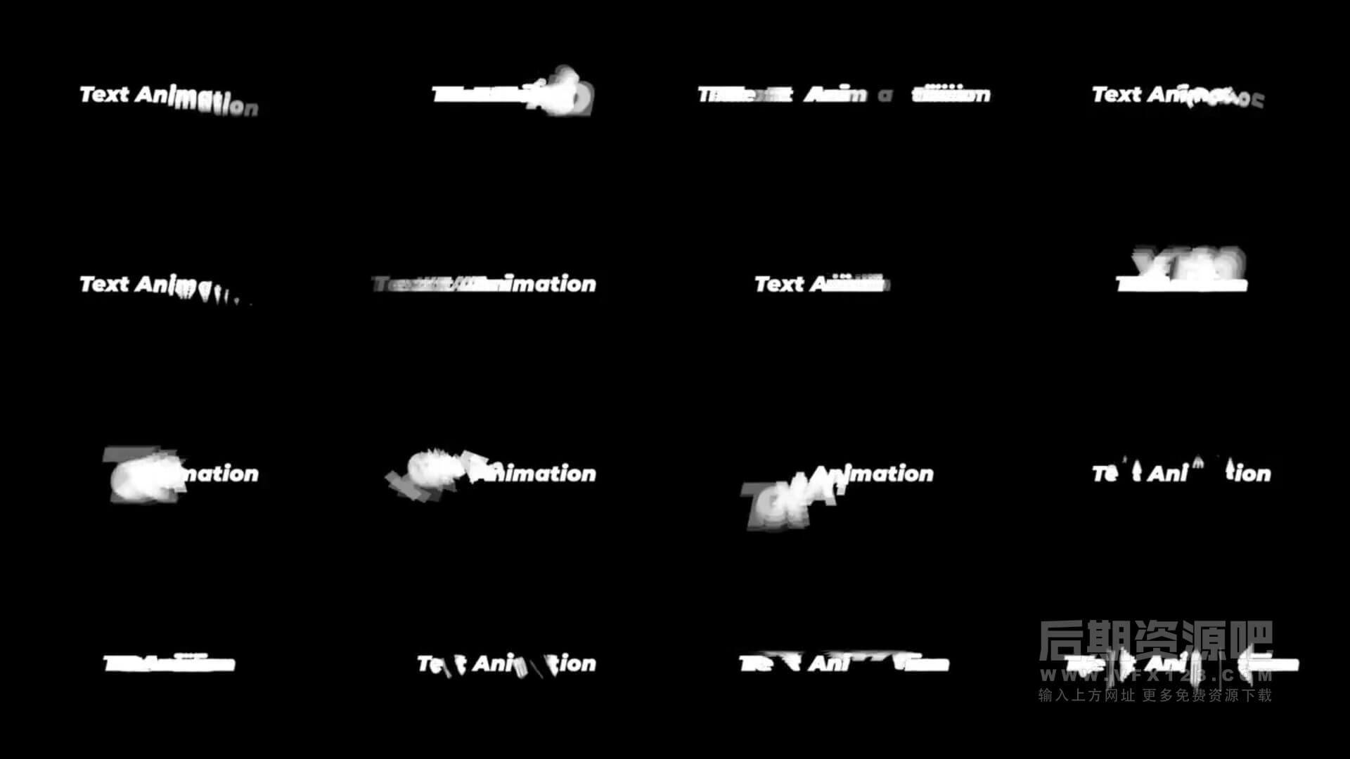 fcpx标题插件 16组跟踪逐字闪现动画效果标题模板 Trace Text Animations
