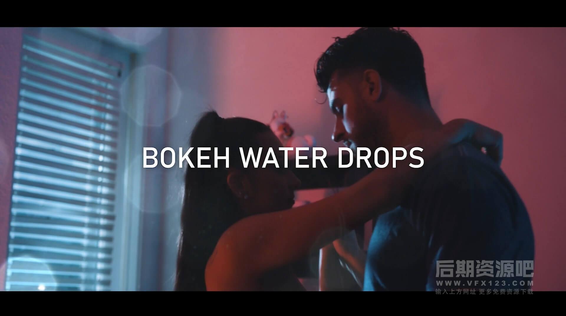 视频素材 4K雨滴水滴气泡飞溅特效合成素材 包含音效 CinePacks Water Fx