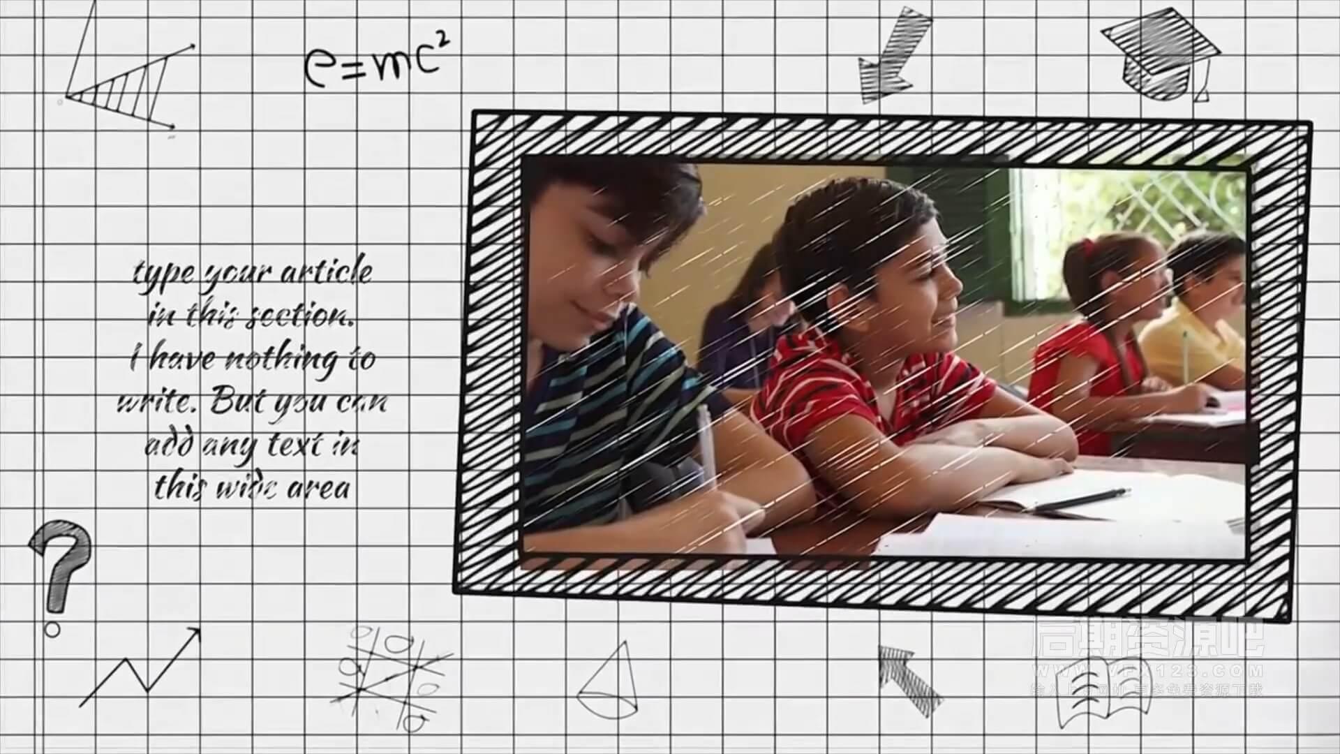 fcpx主题模板 卡通活力学校生活图片视频展示模板 School Life