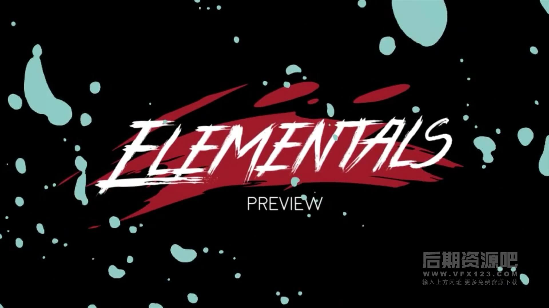 视频素材 2D手绘卡通爆炸火闪光烟等特效合成素材 Elemental 2D FX pack