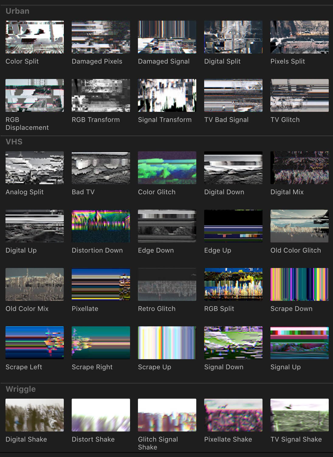 FCPX转场插件 100种画面失真损坏色散毛刺信号故障干扰转场V2+使用教程
