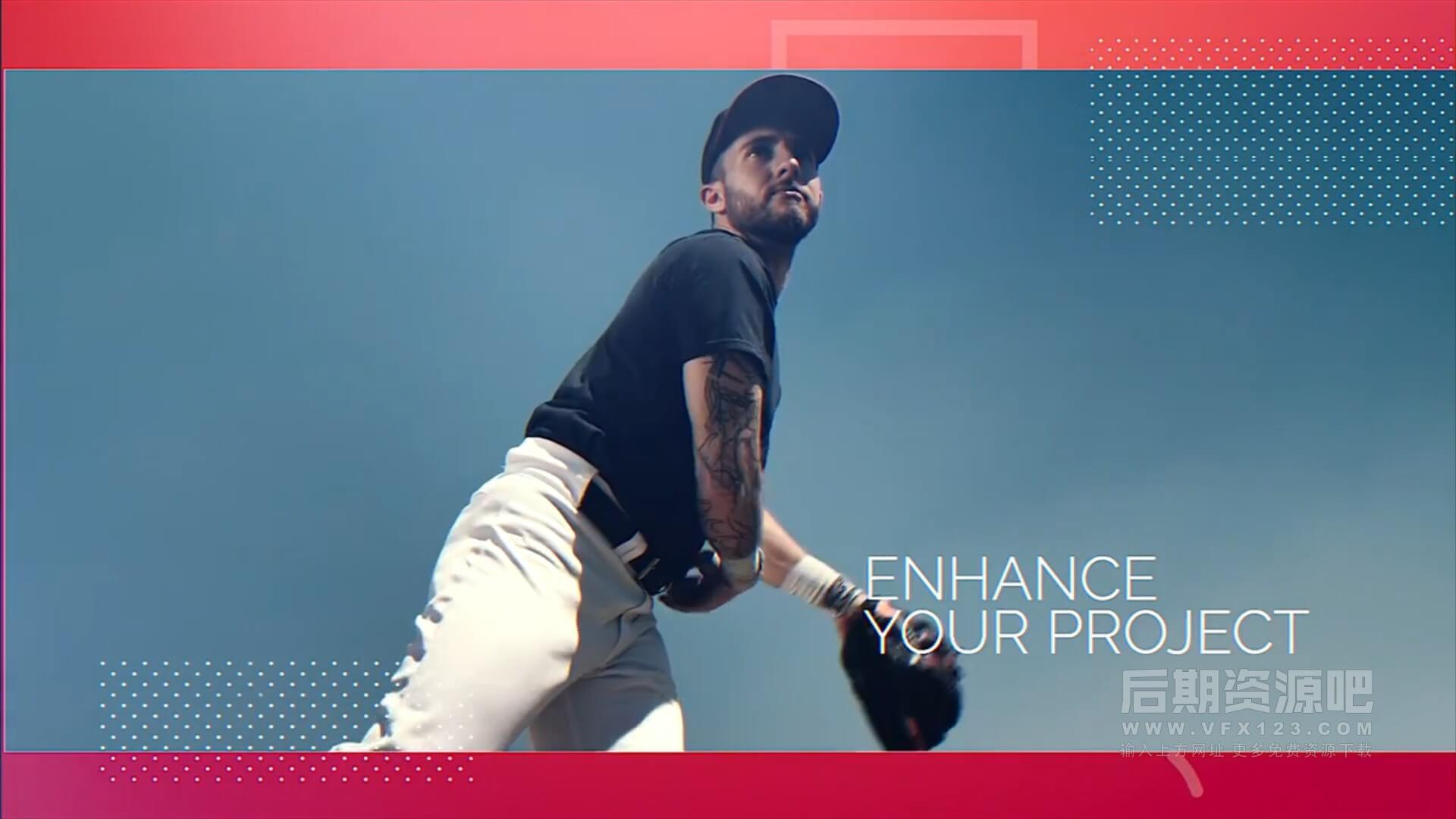 fcpx主题模板 时尚简约个人写真作品集展示模板 Playful Slideshow
