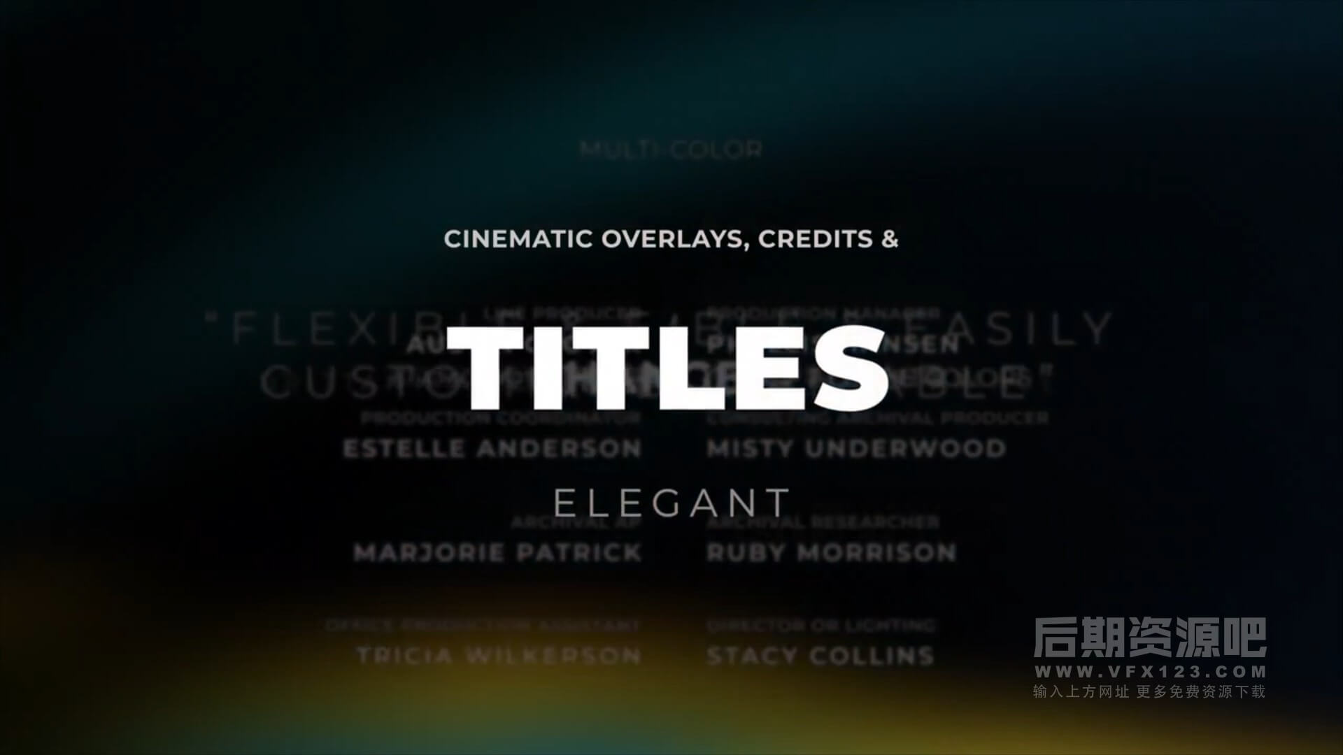 Fcpx插件 21组电影开场片尾演职员字幕模板 Titles Elegant Cinematic 2