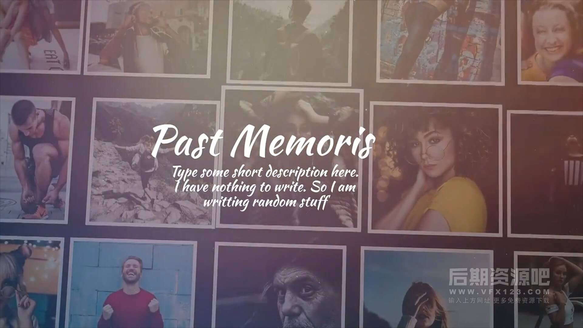 fcpx主题插件 优雅复古风格回忆纪念多图展示相册模板 Past Memories