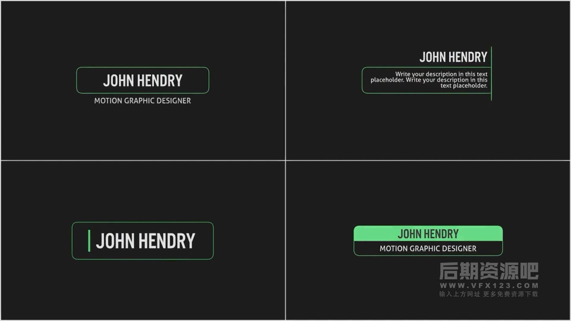 fcpx字幕插件 简洁大方文本框标题动画模板 Elegant Titles