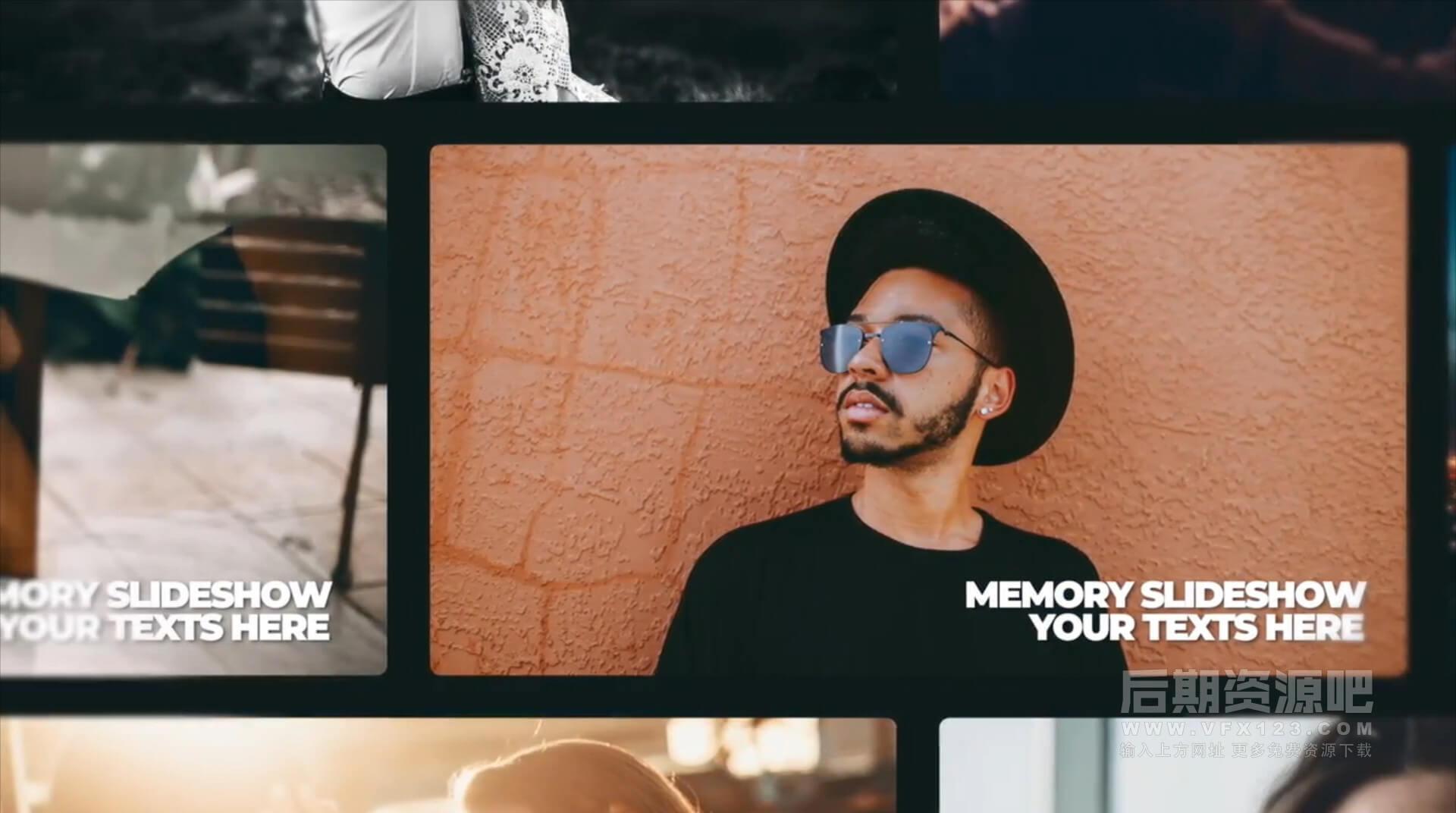fcpx主题模板 浪漫回忆旅行纪念婚礼MV相册模板 Memory Slideshow