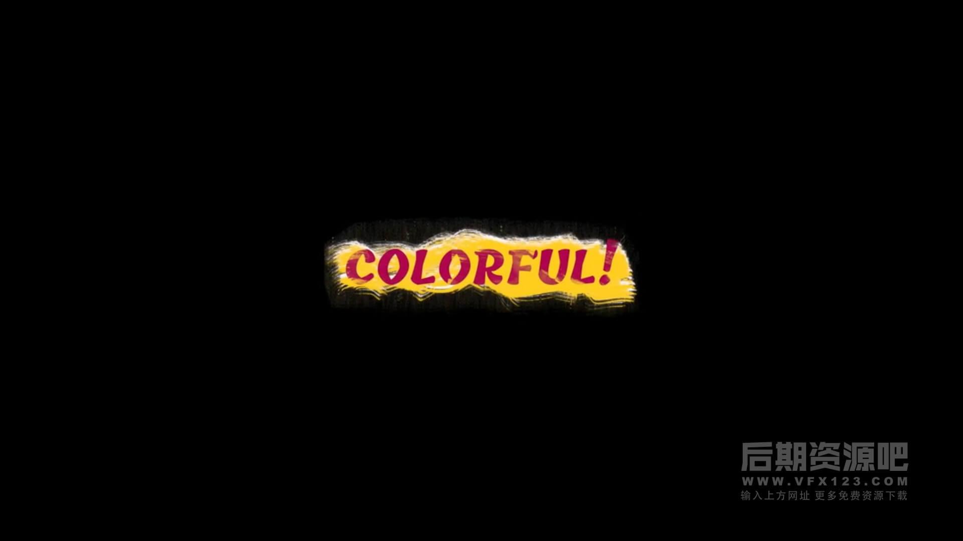fcpx插件 16组卡通可爱彩色笔刷动画标题模板 Colorful Brush Titles