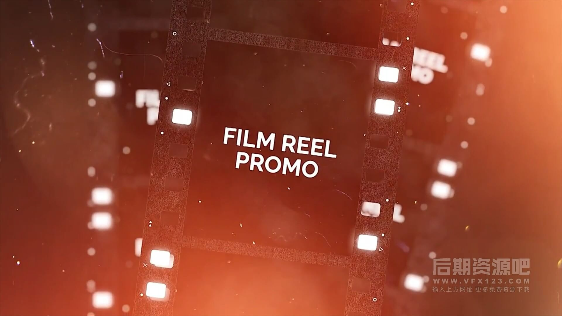 fcpx主题插件 复古胶卷漏光叠加效果回忆纪念相册模板 Film Reel Promo
