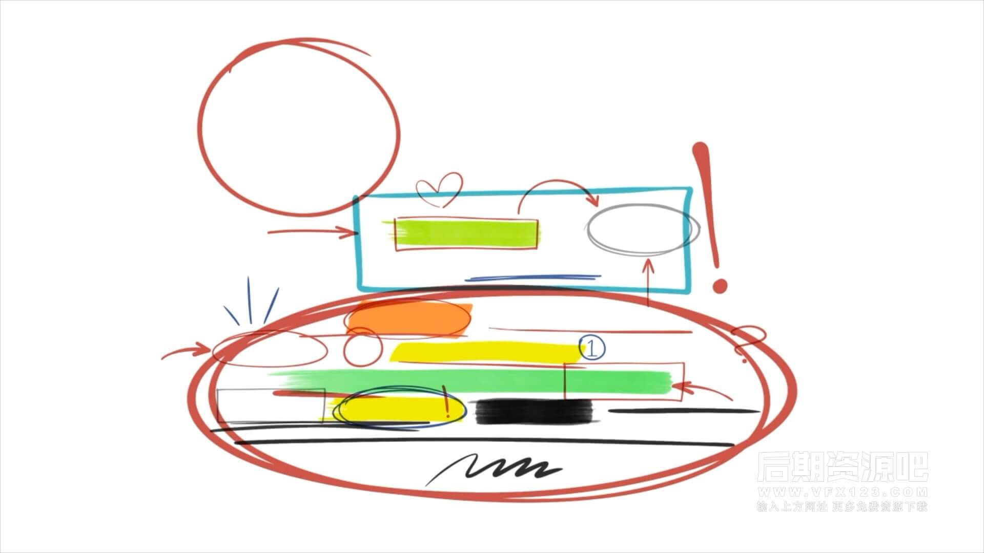 AE模板 485个手绘涂鸦素描动画元素包 Hand Drawings Pack