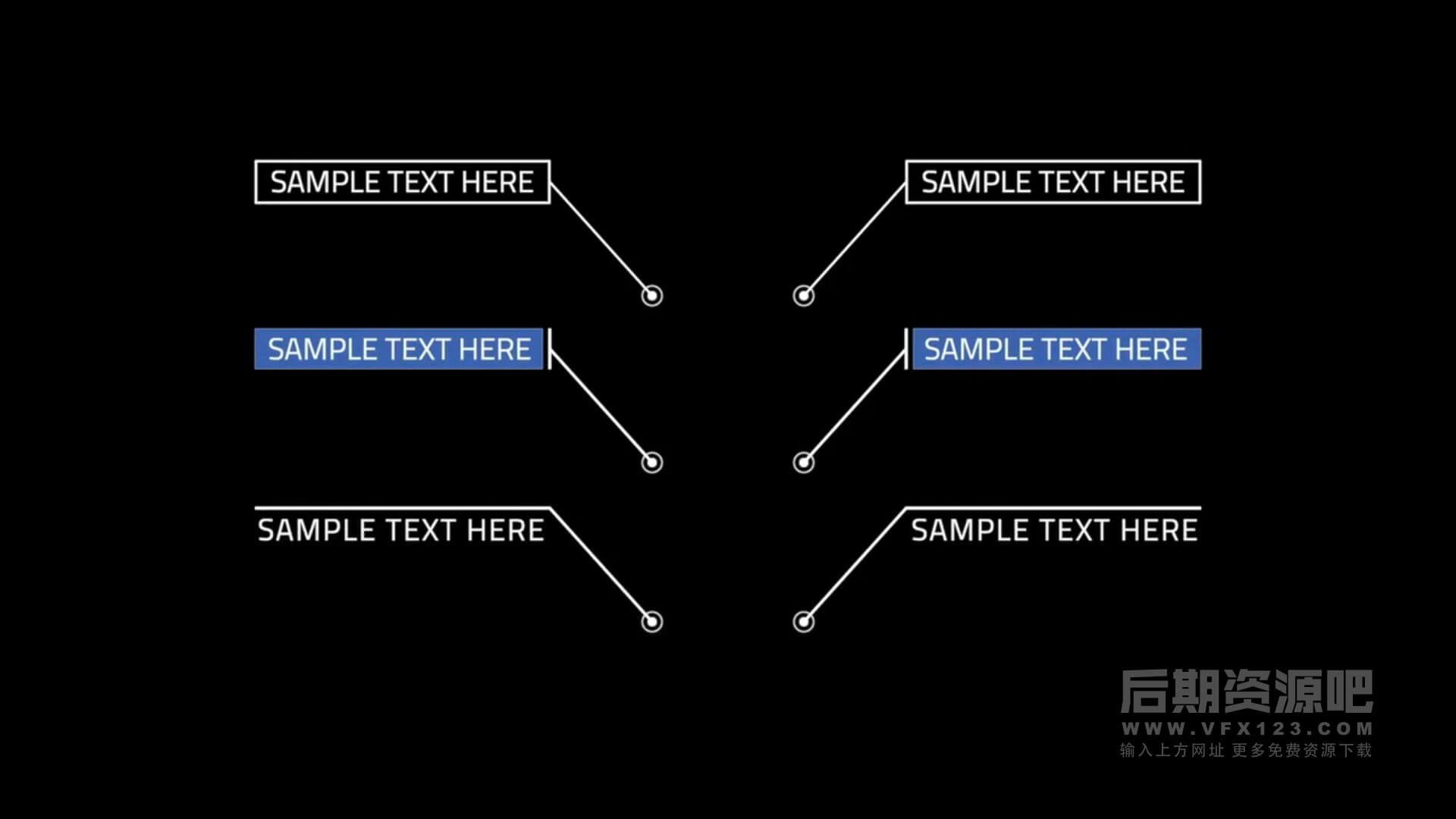 fcpx插件 单行文本线条呼出标注注释动画模板 Call Out