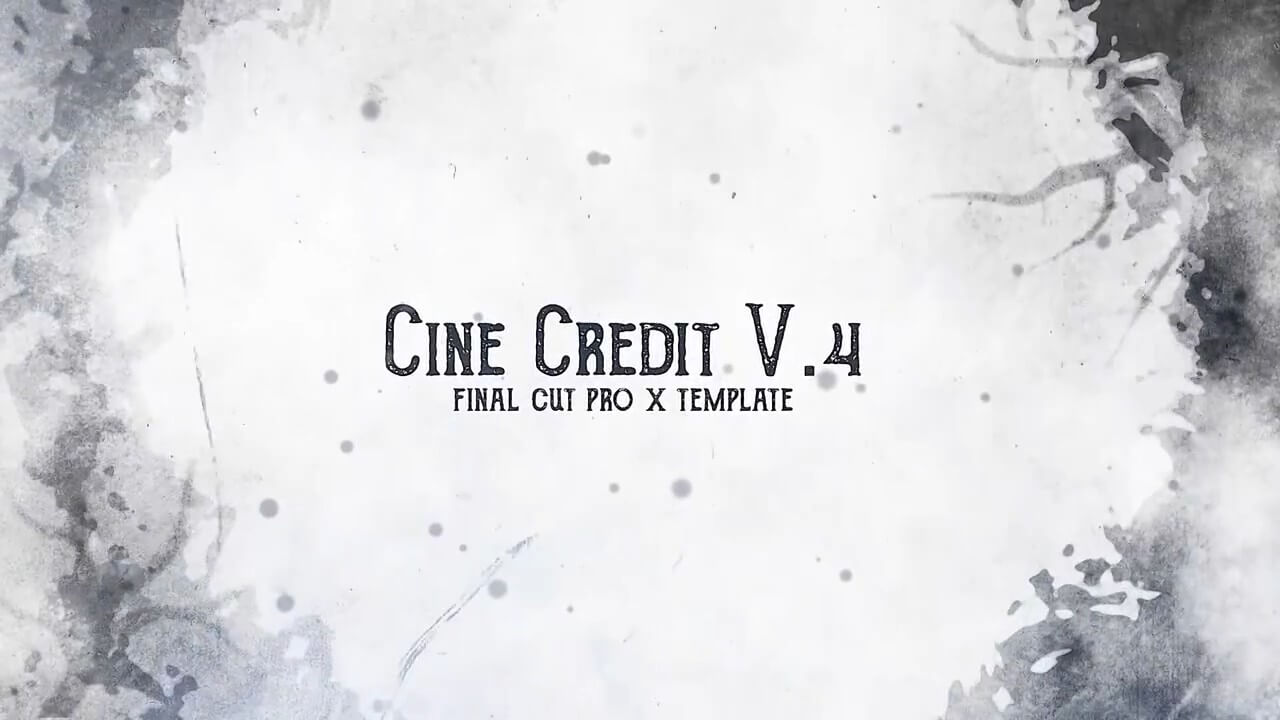 fcpx插件 复古划痕旧电影效果演职人员字幕模板 Cine Credit V.4