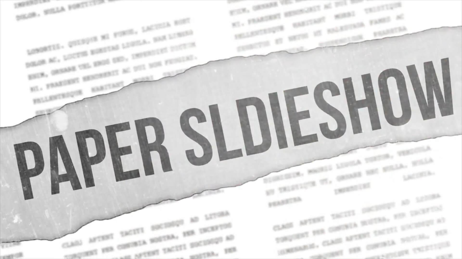 fcpx主题插件 时尚杂志报纸撕纸效果片头模板 Paper Slideshow