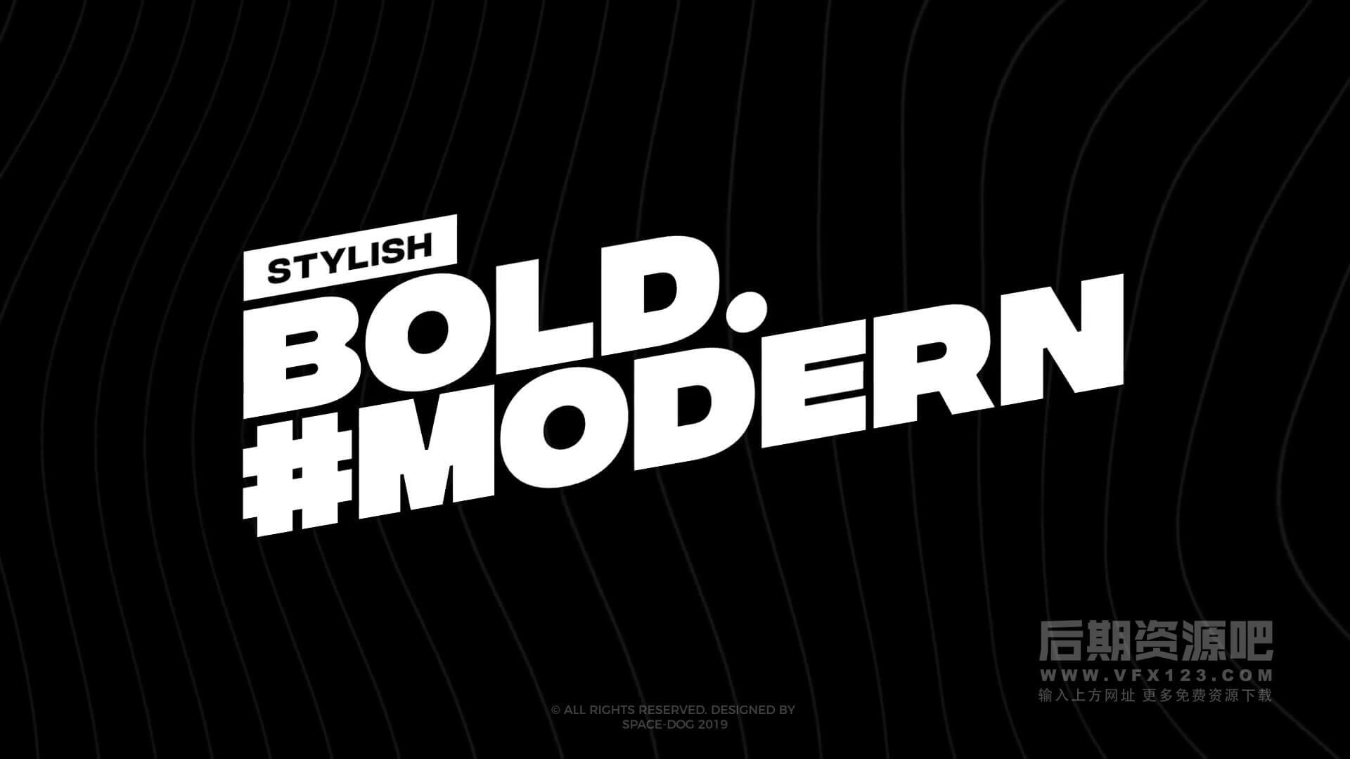 fcpx标题插件 25组现代时尚大文字排版动画预设 Modern Big Titles