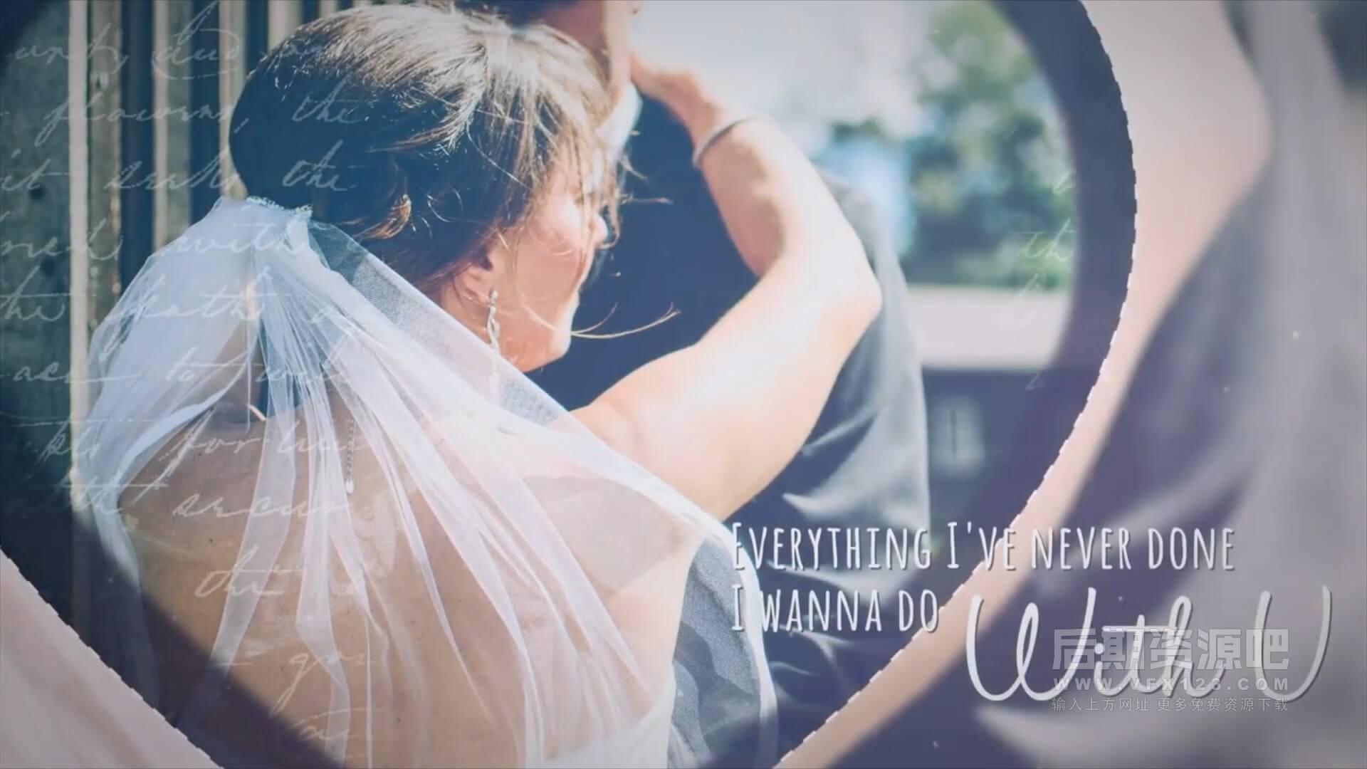 fcpx主题模板 浪漫爱情故事图片视频展示相册模板 Love Story Slideshow