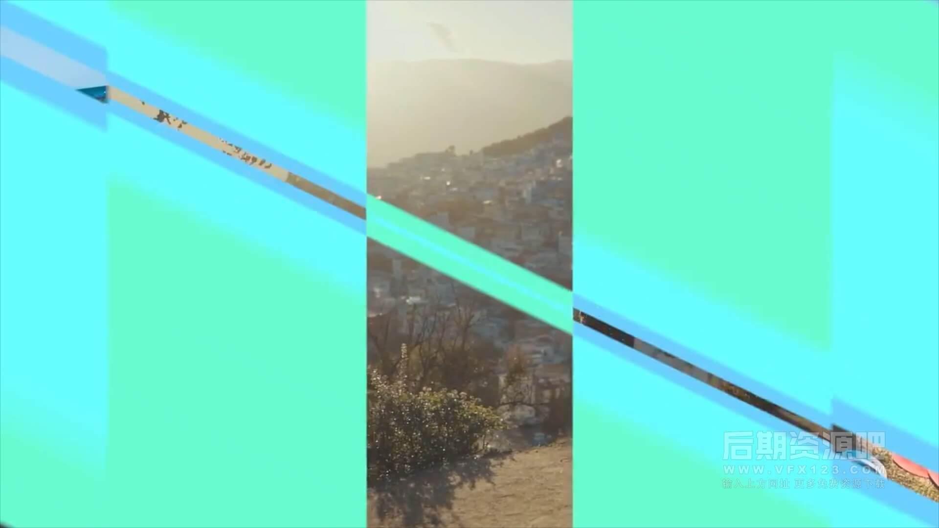 fcpx转场插件 炫酷时尚形状分割动画过渡转场预设 Split Shape Transitions