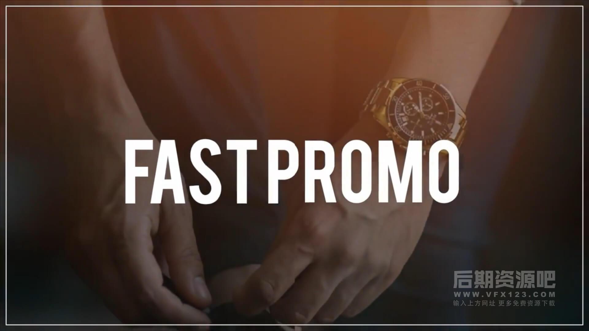fcpx主题模板 简短快速图片视频展示插件 Fast Slideshow