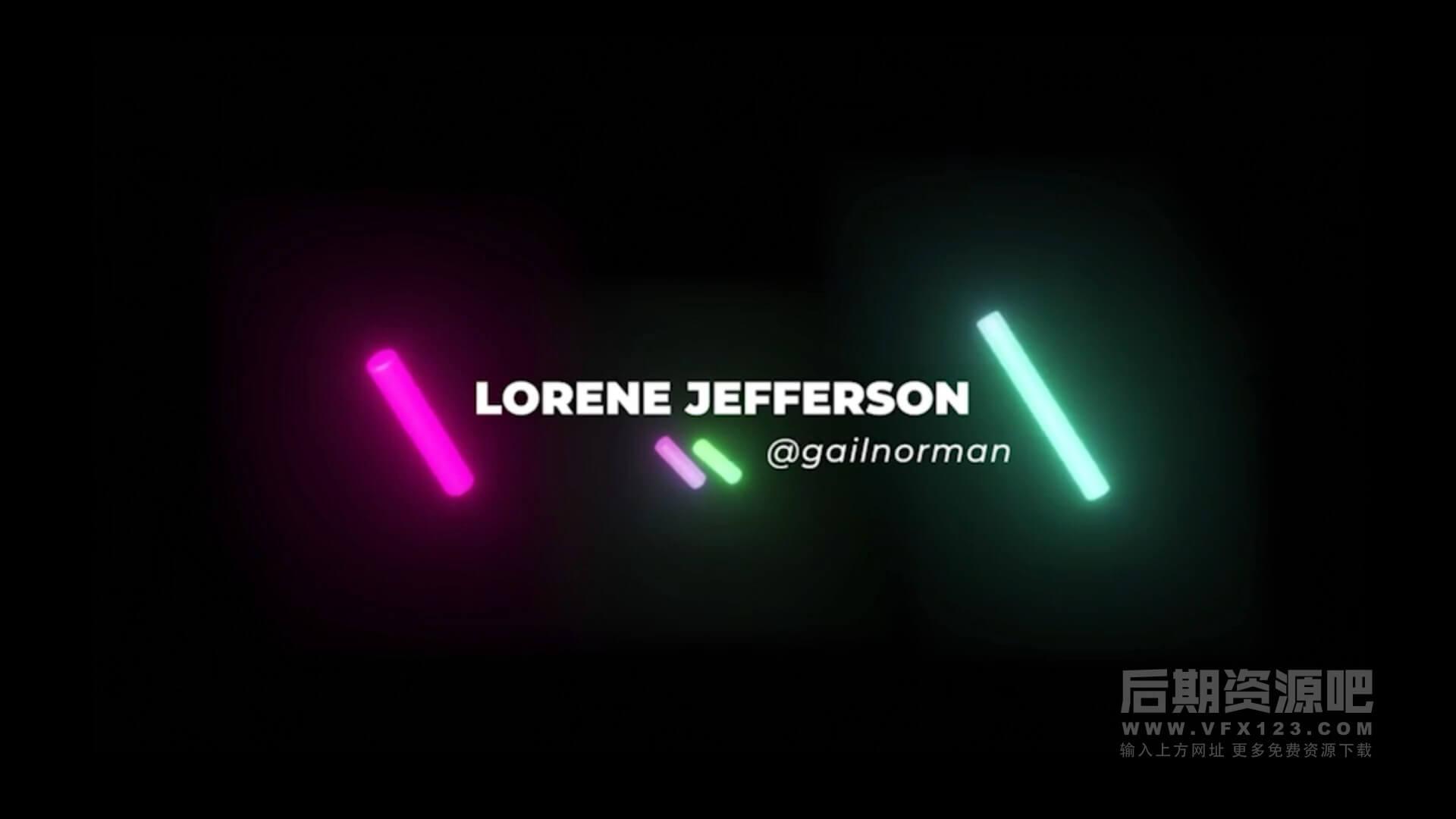 fcpx标题插件 27组时尚霓虹灯闪光效果标题模板 Lower Thirds Neon Titles