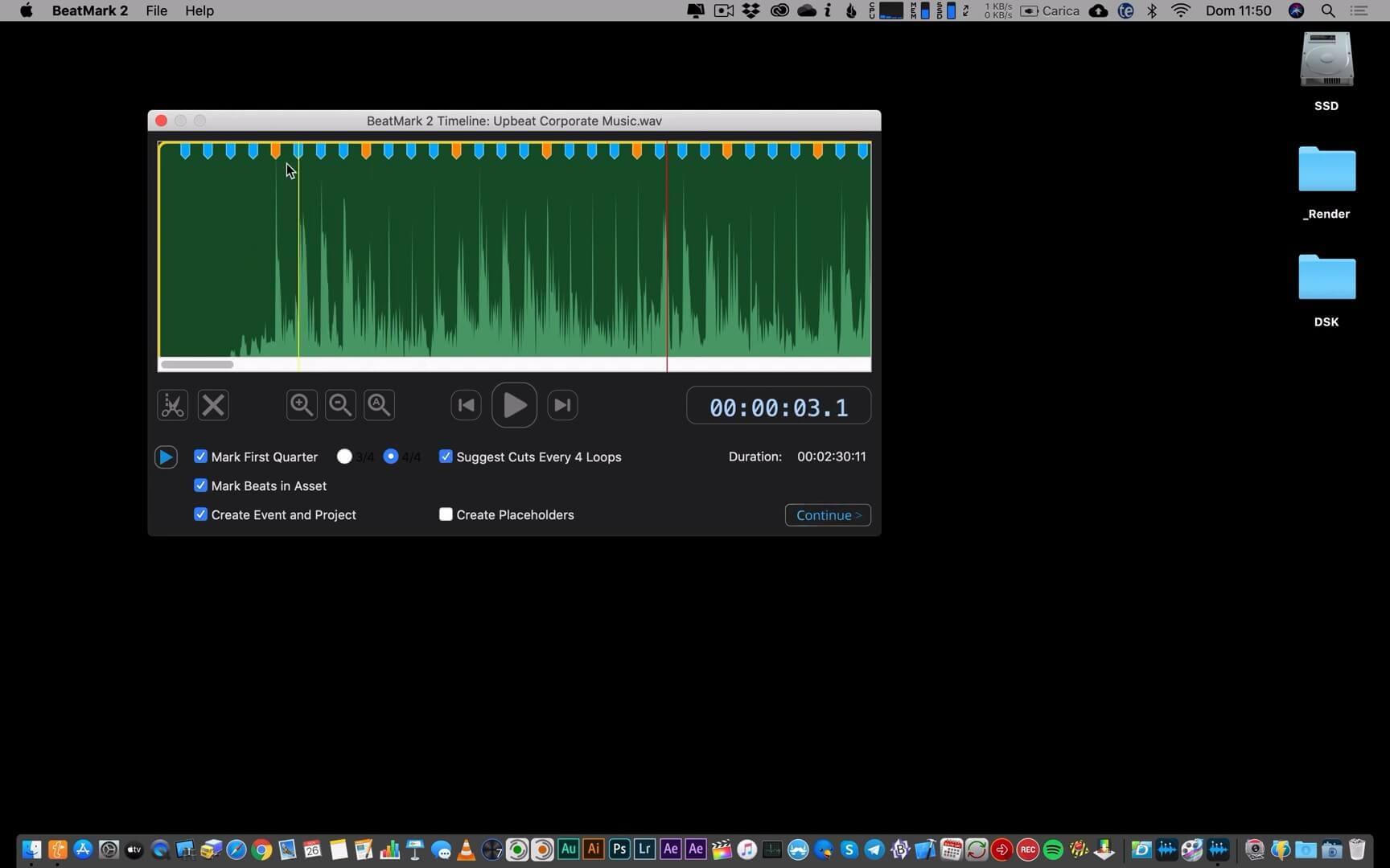 FCPX插件 音频节拍卡点自动标记工具 BeatMark 2 Mac 附使用参考