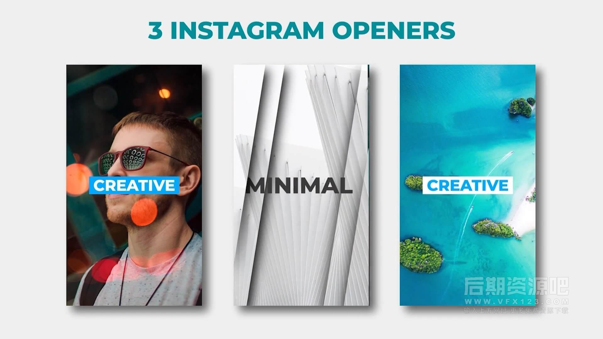 fcpx插件 30组手机竖屏方屏抖音快手短视频模板 Instagram Stories Pack