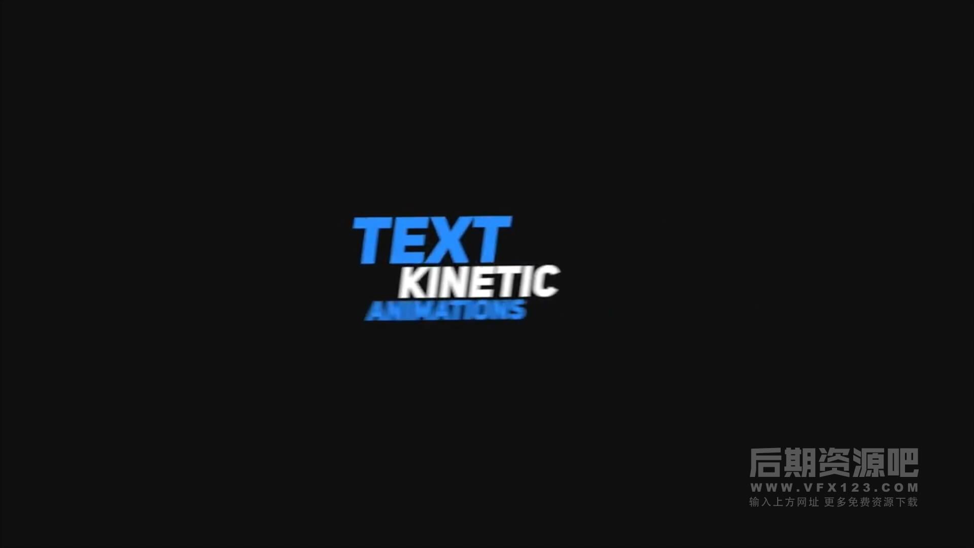 fcpx标题插件 20组快速旋转切入切出动画效果文字模板 Kinetic Typography