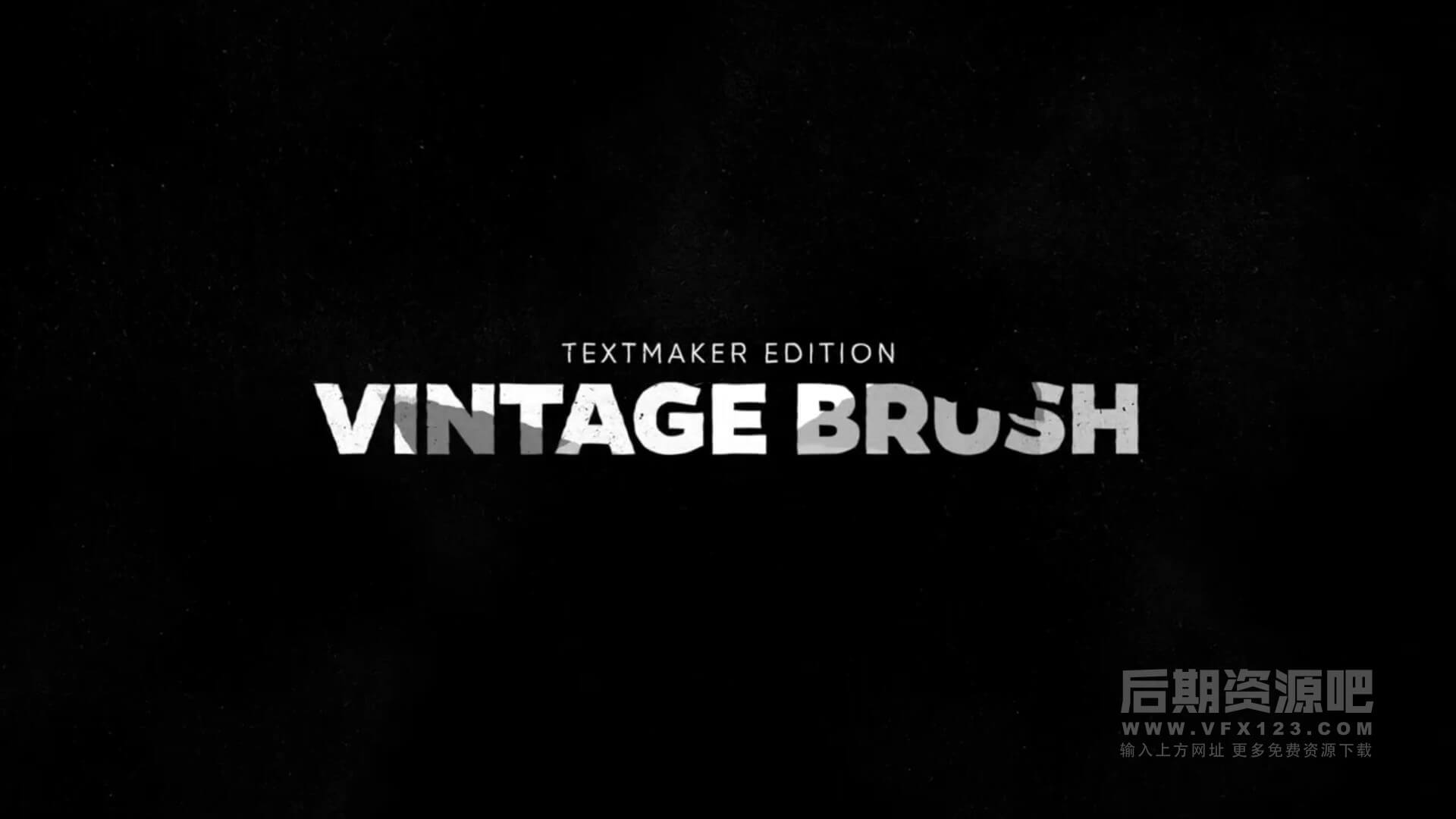 fcpx标题插件 8组复古笔刷文字动画效果模板 Titles Animator Vintage Brush
