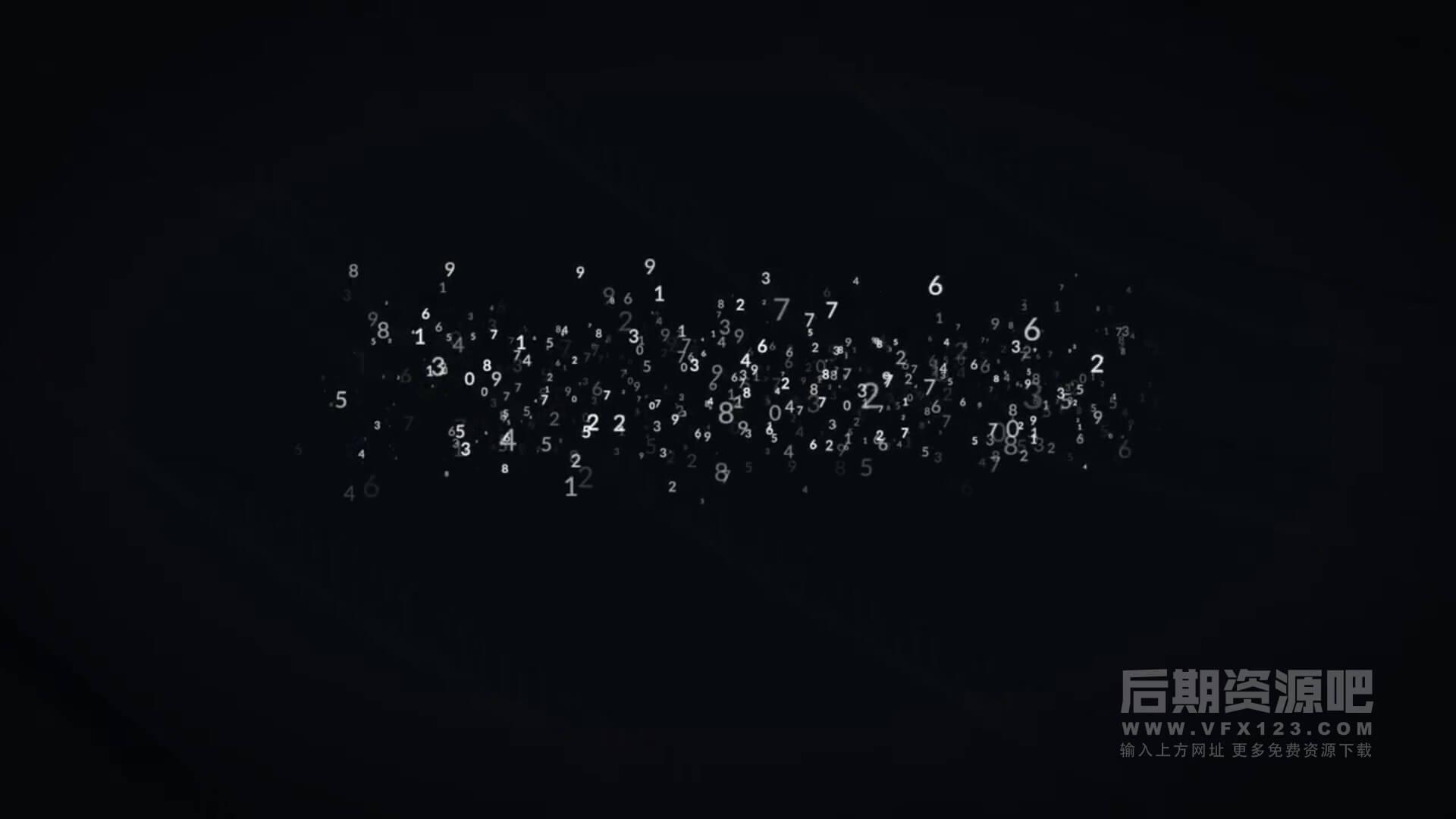 fcpx标题动画 8种数字飞散粒子动画效果模板 Titles Animator Number Reveal