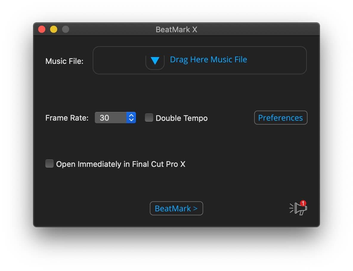 FCPX插件 音频节拍卡点自动标记工具 BeatMark 2 Mac破解版附使用参考