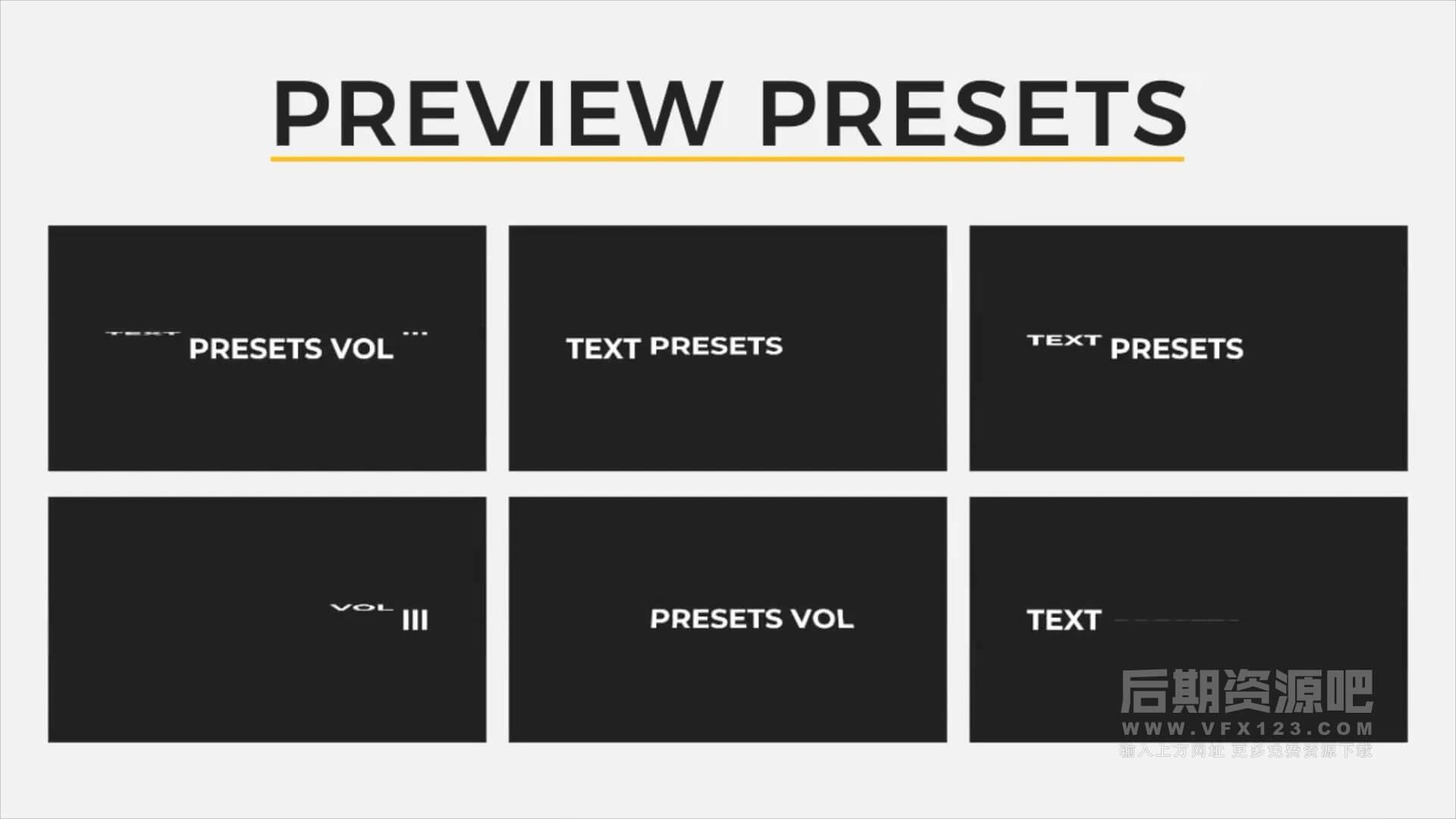 Fcpx字幕动画插件 30组简单实用文字标题动画预设 第三季 Text Presets