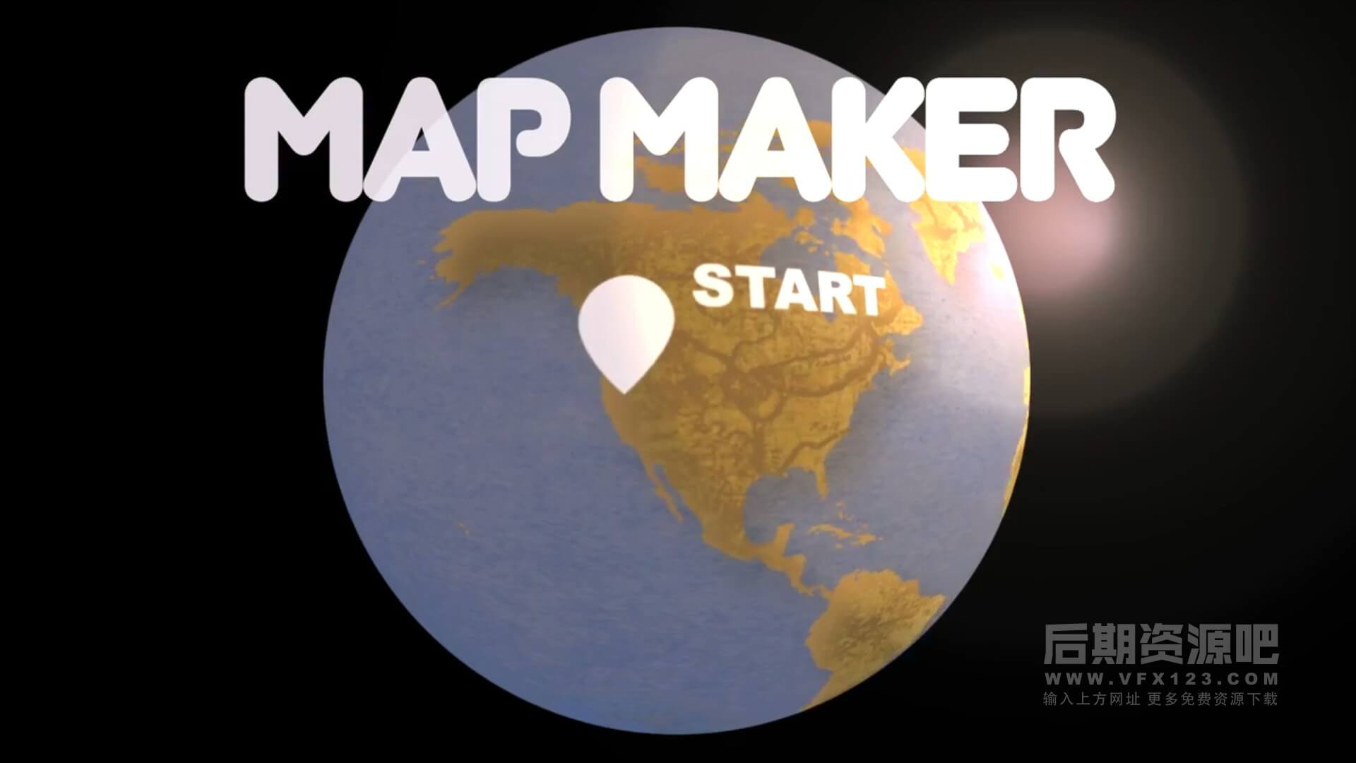 fcpx插件 地图路线生成工具可生成3D动画 旅行Vlog常用 Map Maker