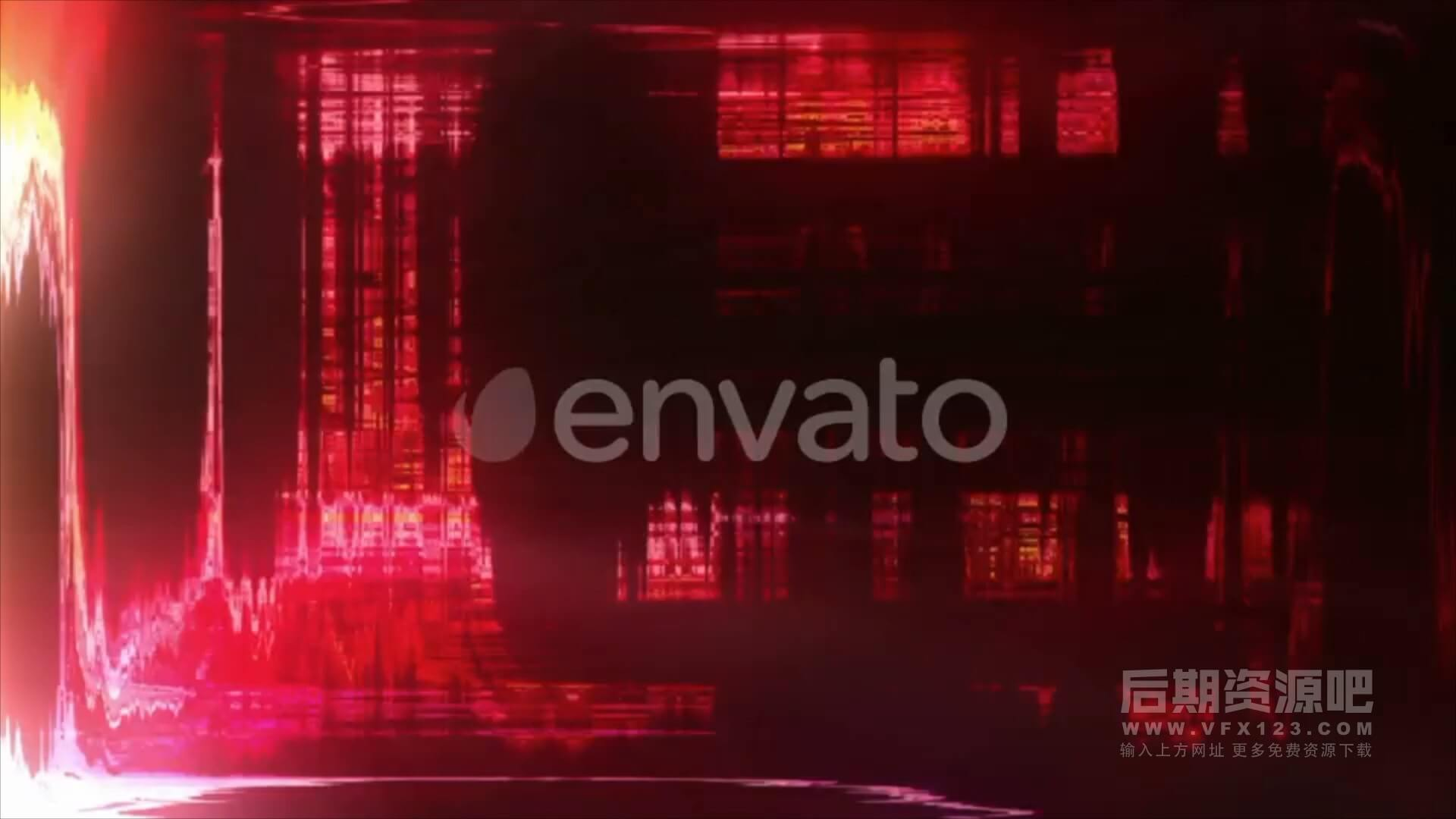 视频素材 40个抽象闪烁干扰射线毛刺效果叠加素材 Light Flash Transitions