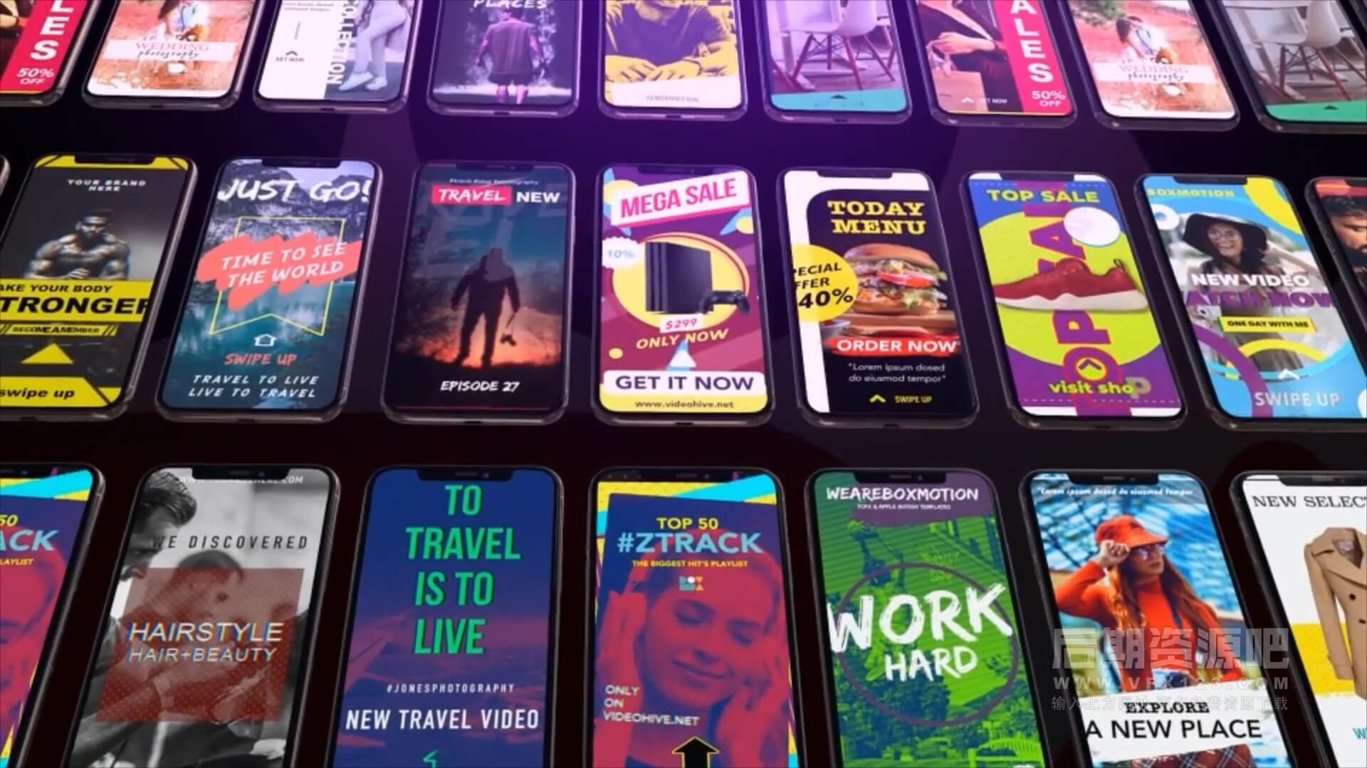 Fcpx竖屏模板 120+适用手机竖屏短视频制作素材 Instagram Creator Tool Kit