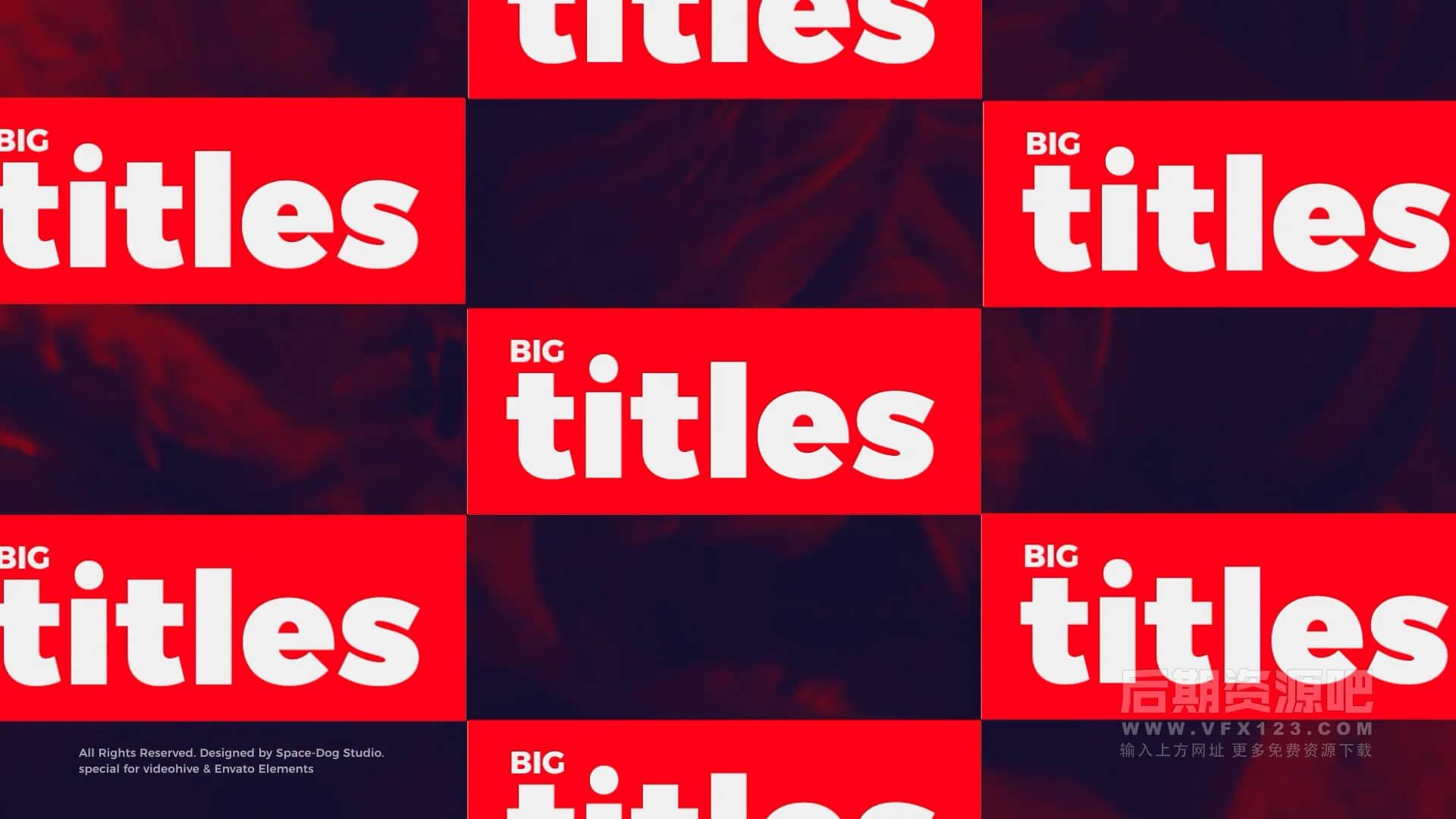 Fcpx插件 20组时尚大标题文字排版动画 Big Bold Titles