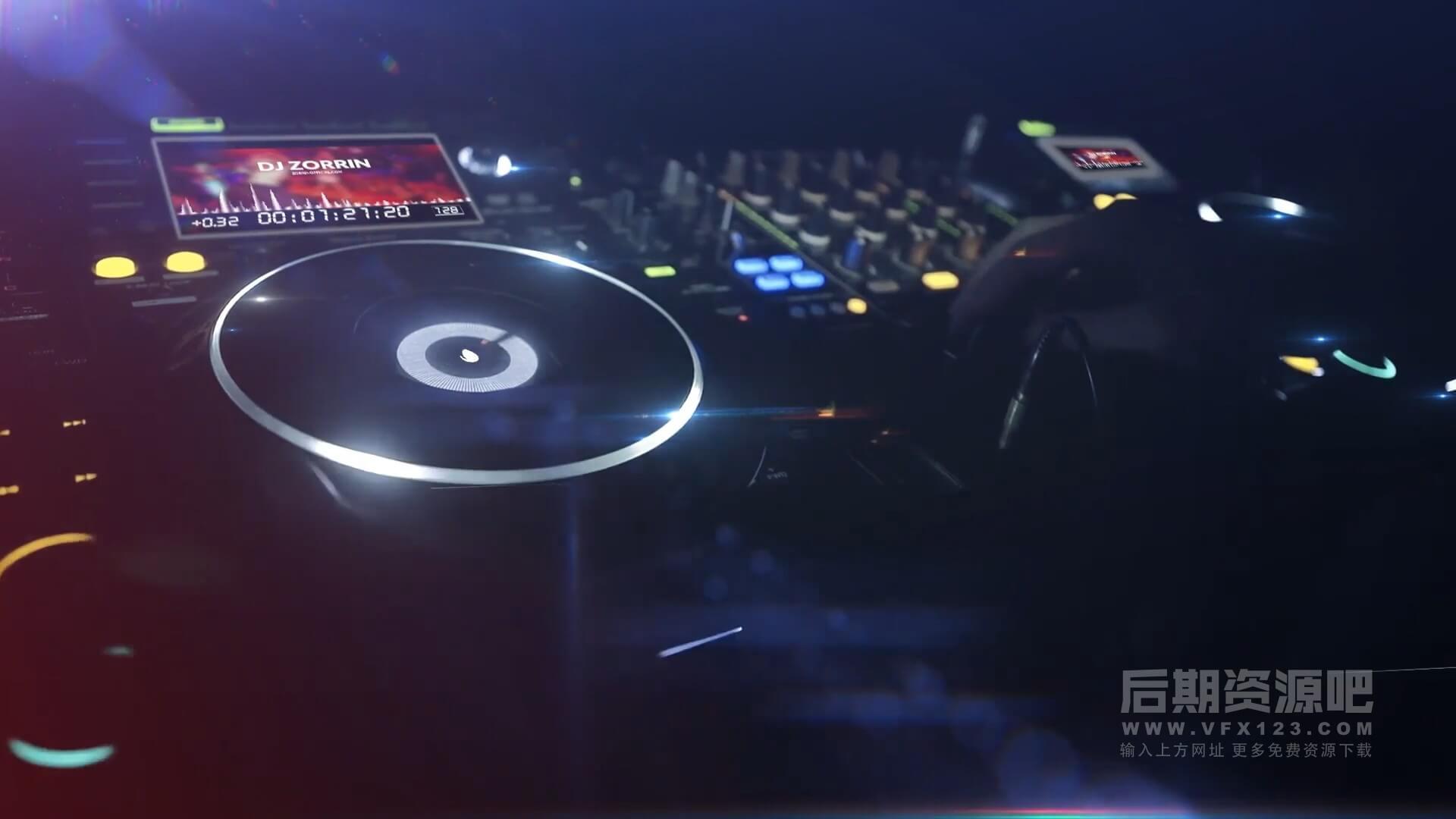 fcpx插件 DJ俱乐部迪厅夜总会lOGO徽标展示模板 DJ Night Club Logos