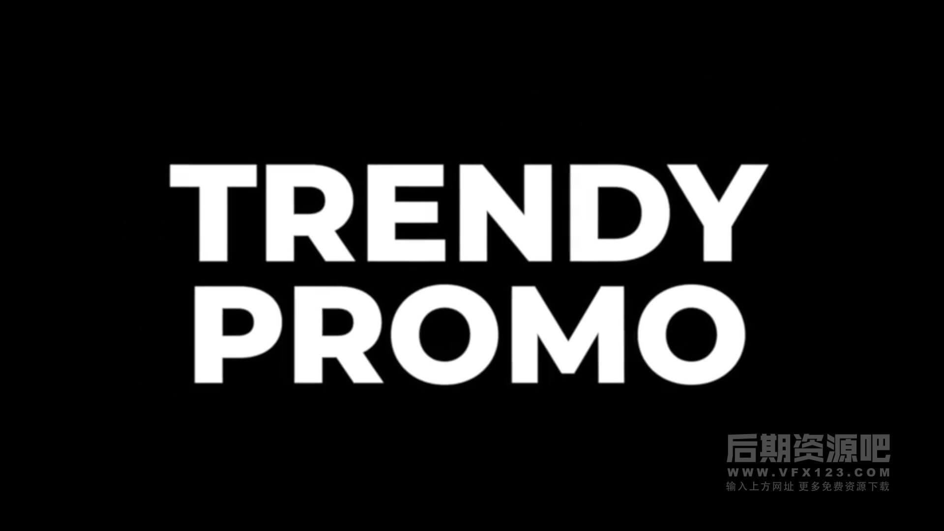 Fcpx插件 快速动感大字标题模板 Trendy Fast Promo