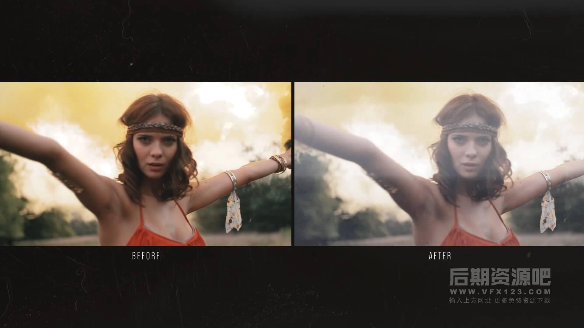 视频素材 180个4K复古年代感电影胶片灼烧炫光刮痕污渍噪点 Spectrum 8mm