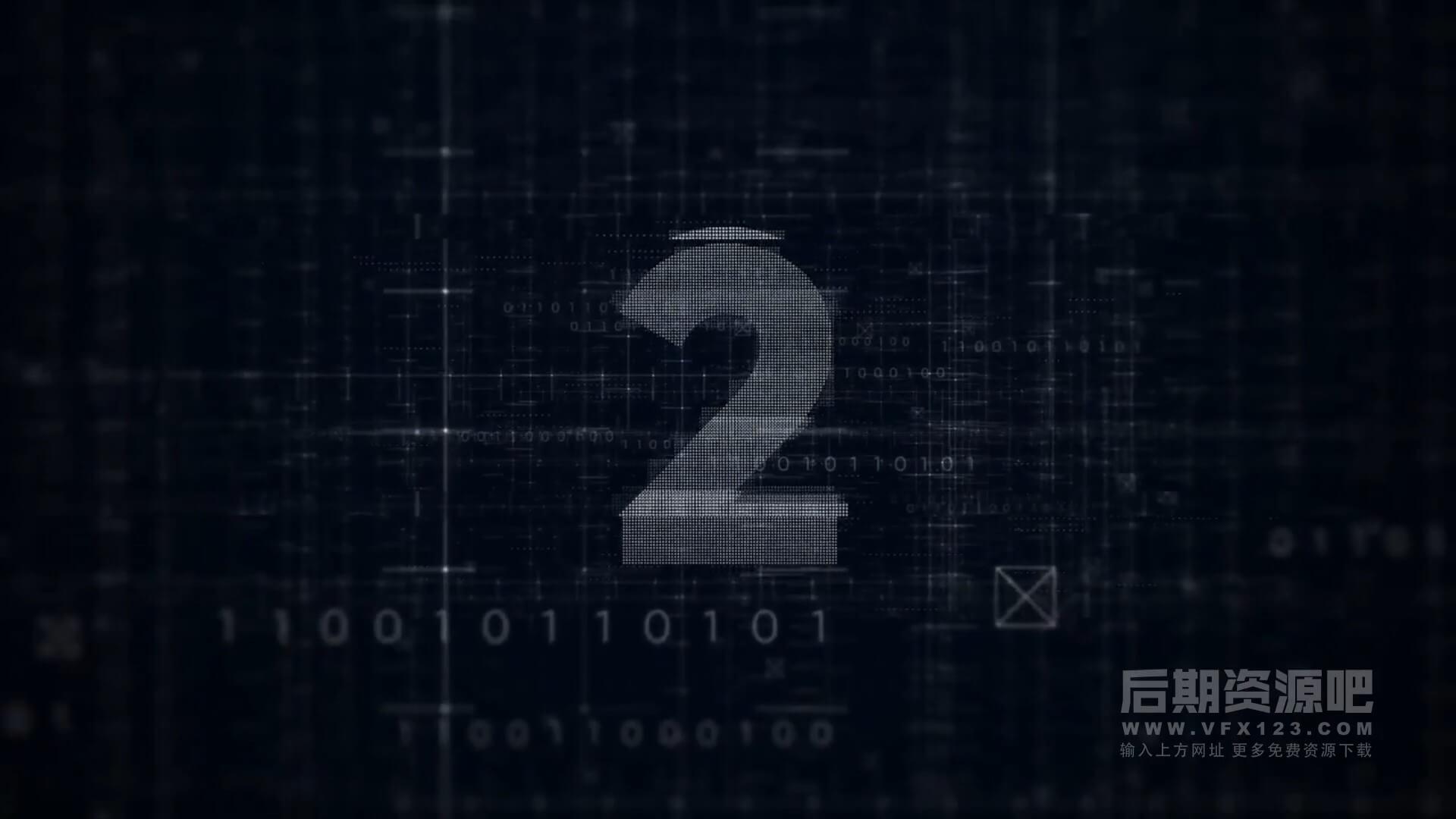 fcpx插件 适用数码科技汽车发布会倒计时 Countdown  Digital Opener