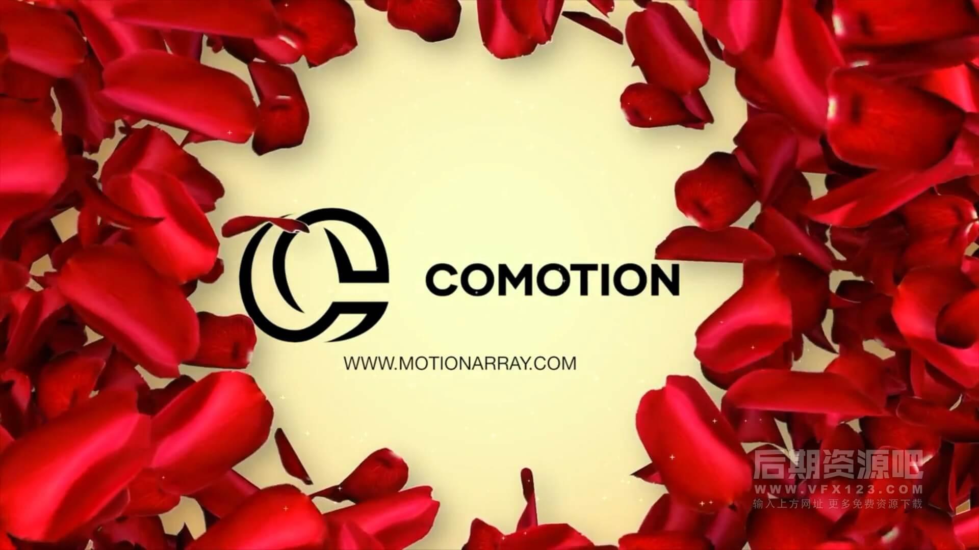 fcpx主题模板 婚礼MV开场婚庆公司徽标宣传片头 Romantic logo
